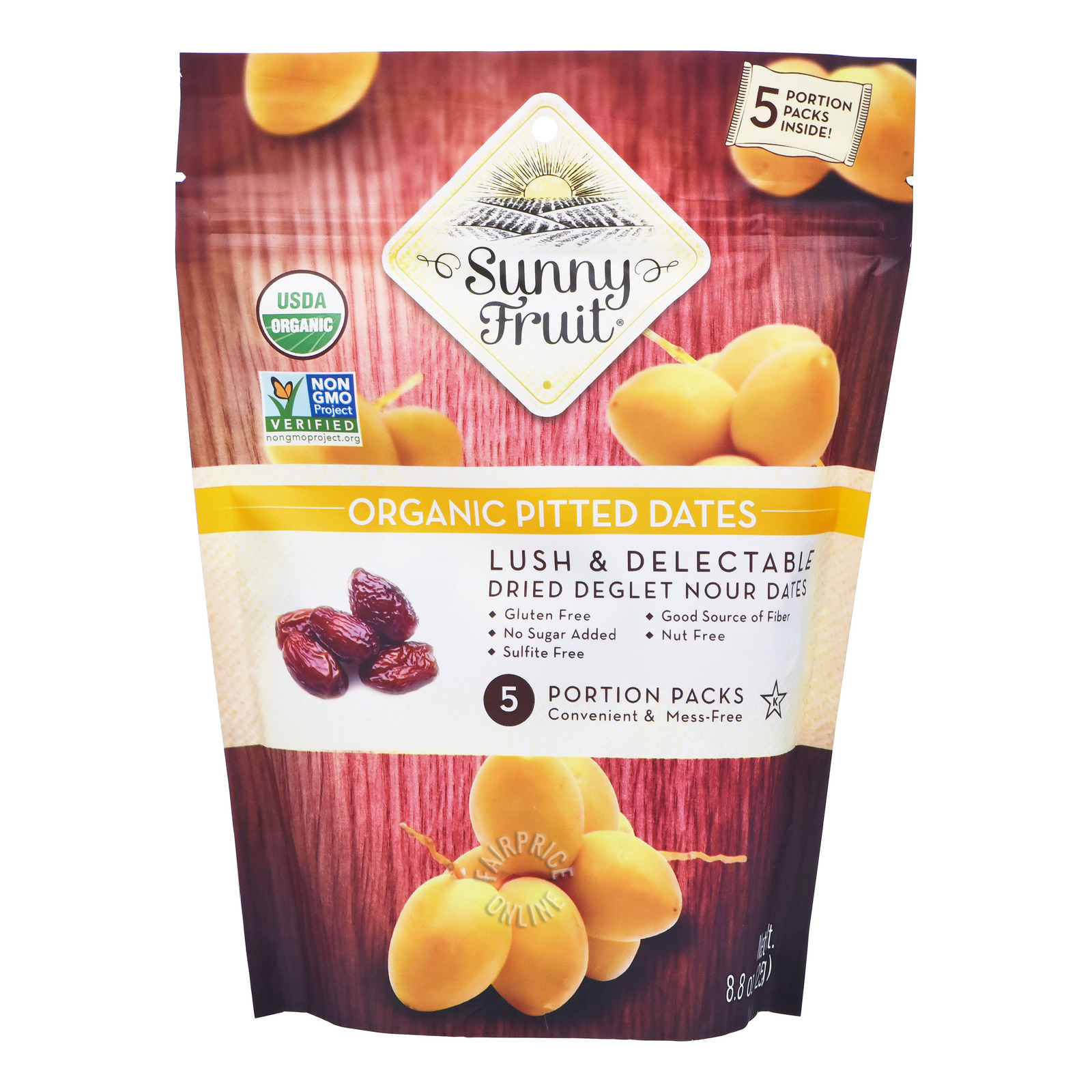 Sunny Fruit Organic Dried Fruit - Pitted Dates
