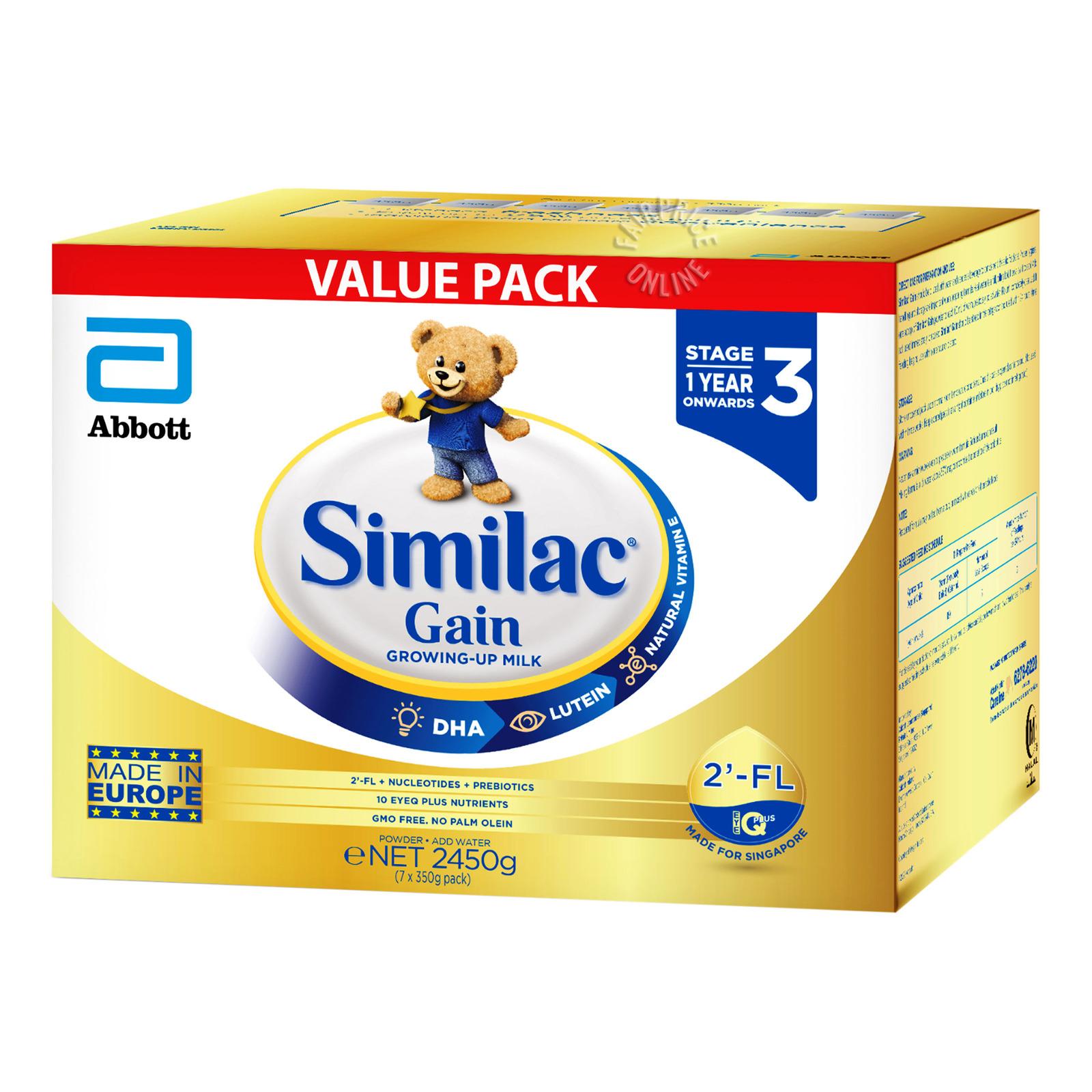 Abbott Similac Gain Growing Up Milk Formula - Stage 3
