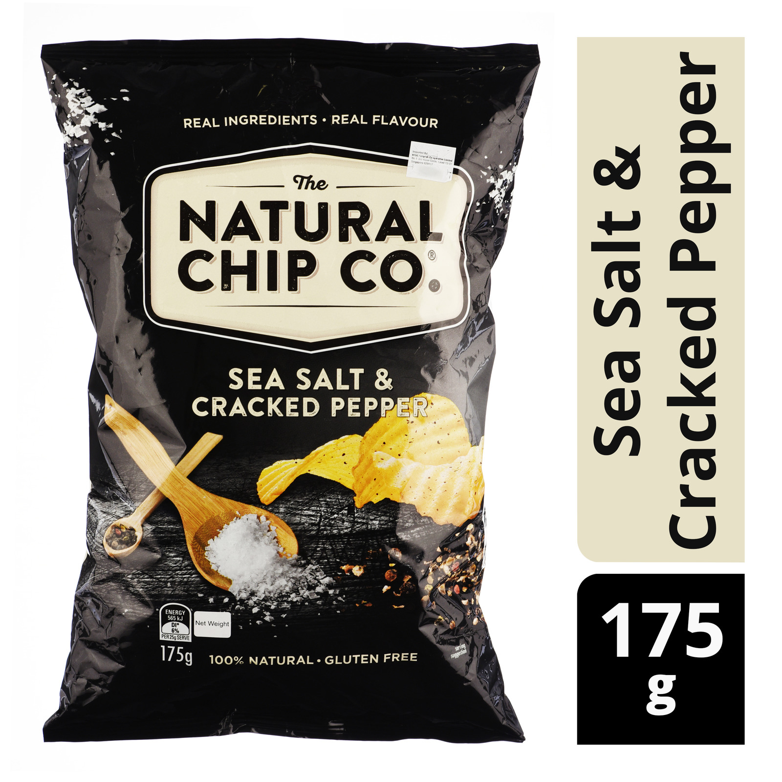 The Natural Chip Co Potato Chips - Sea Salt & Cracked Pepper