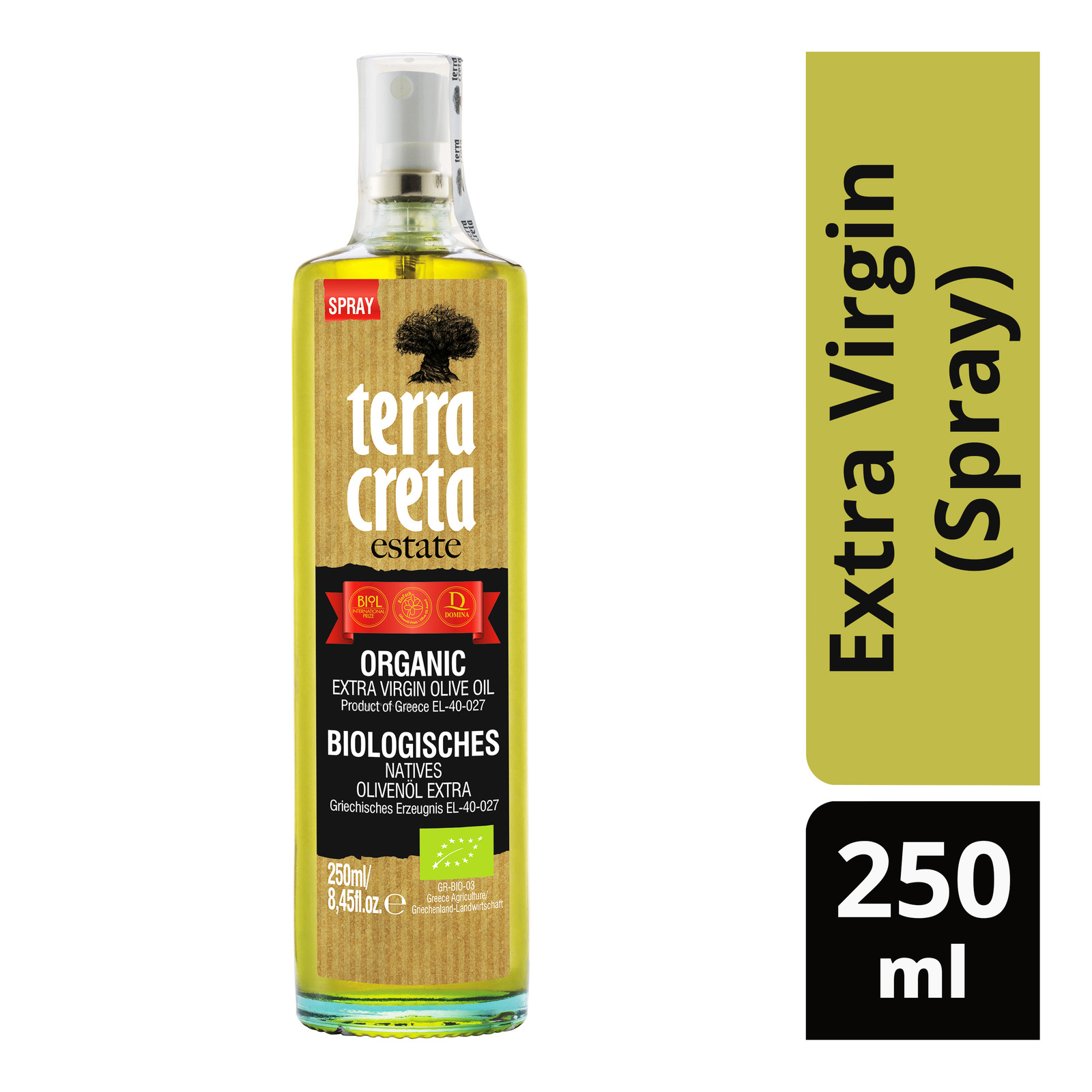 Terra Creta Estate Organic Olive Oil - Extra Virgin (Spray)
