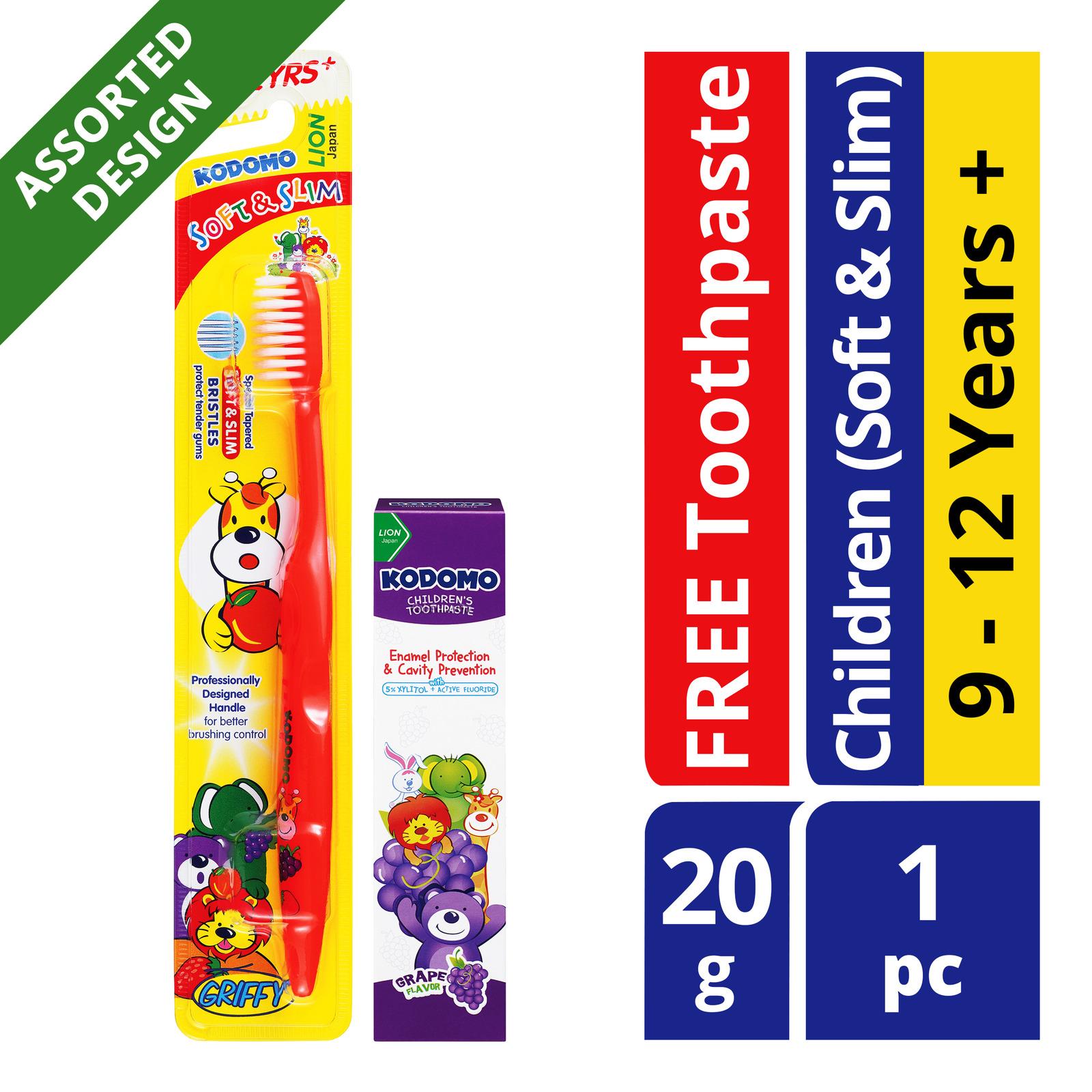 Kodomo Children Toothbrush + Toothpaste (9 - 12 years)