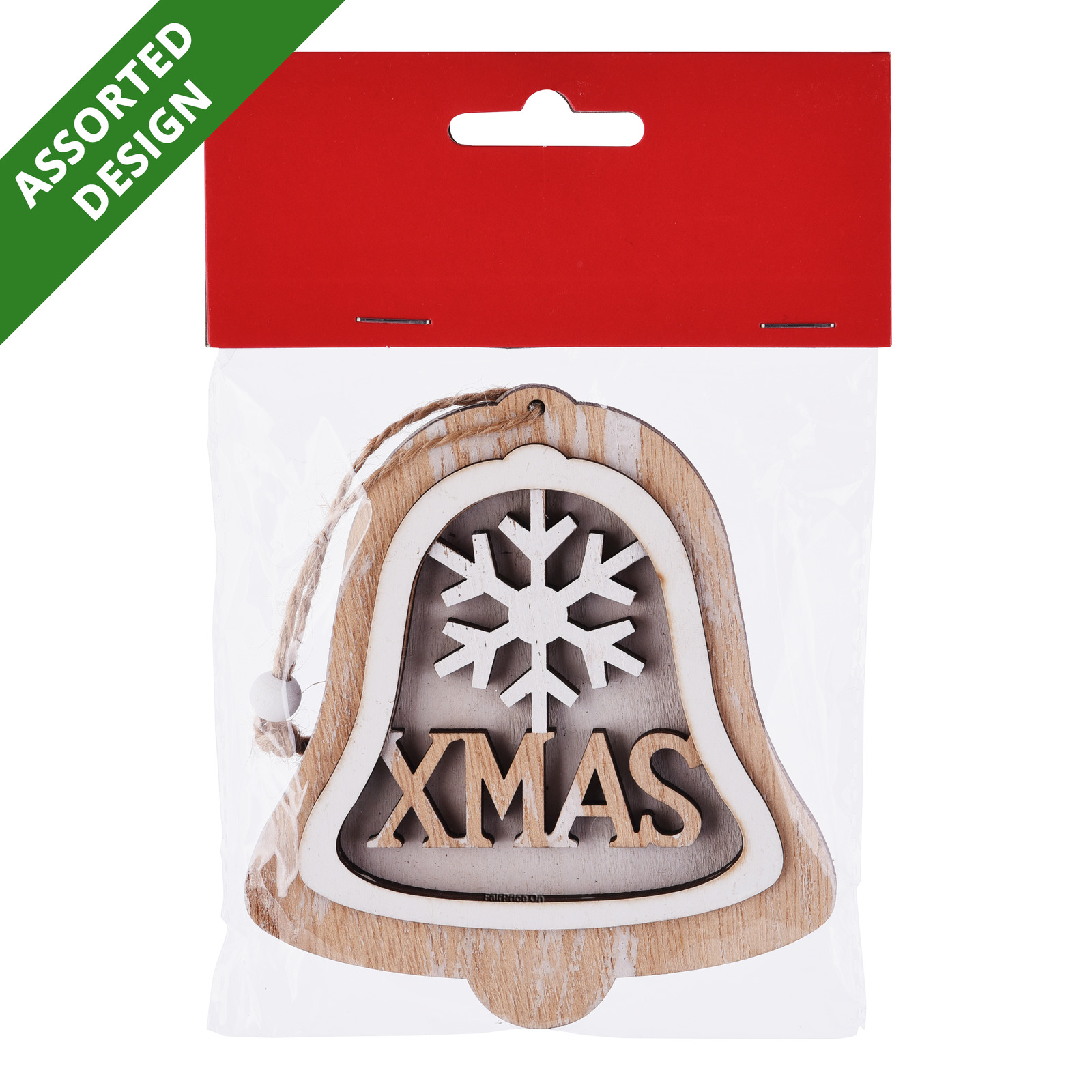 Imported Christmas Wood Ornament - Assorted