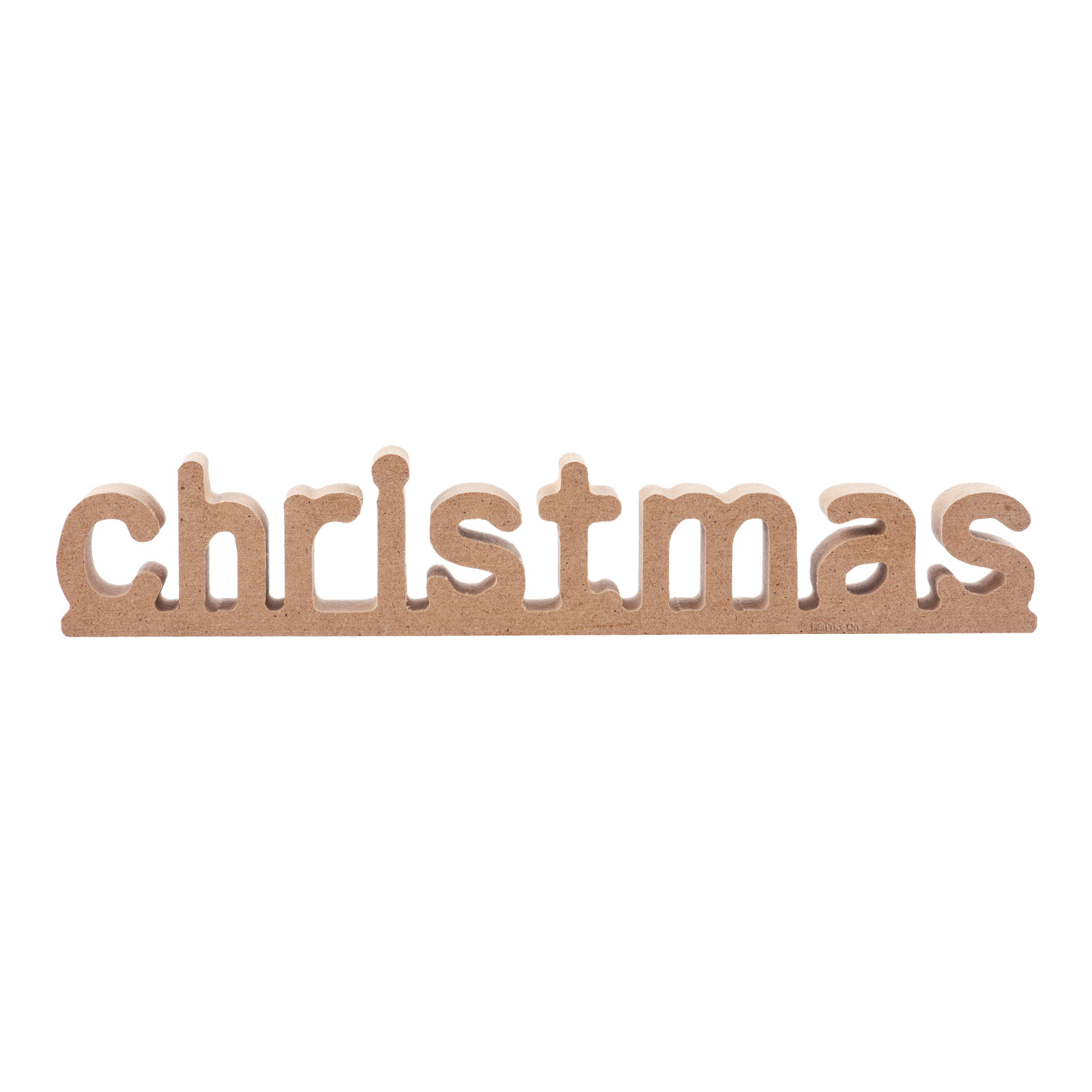 Imported Christmas Word Logo - Brown
