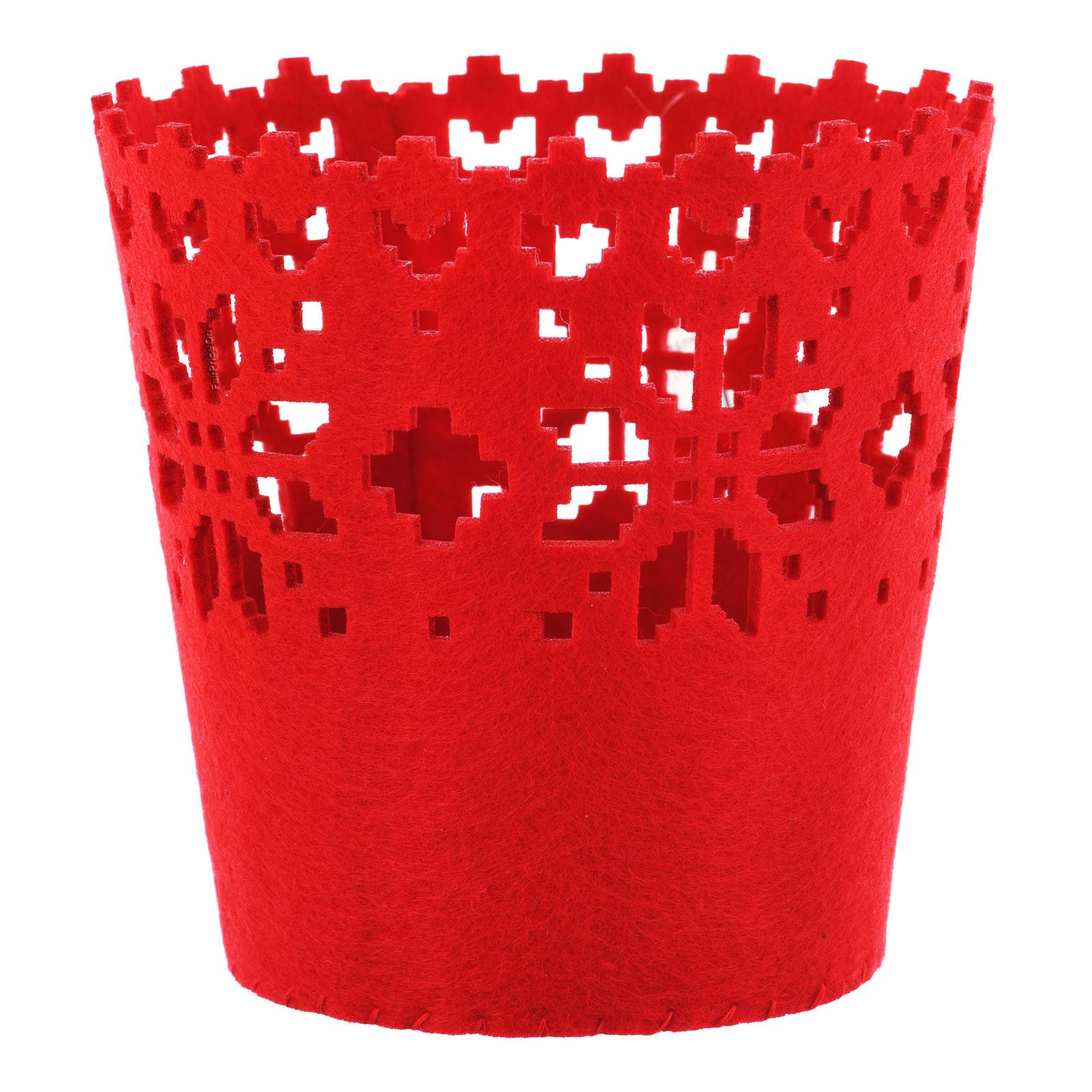 Imported Christmas Felt Decoration - Red Basket