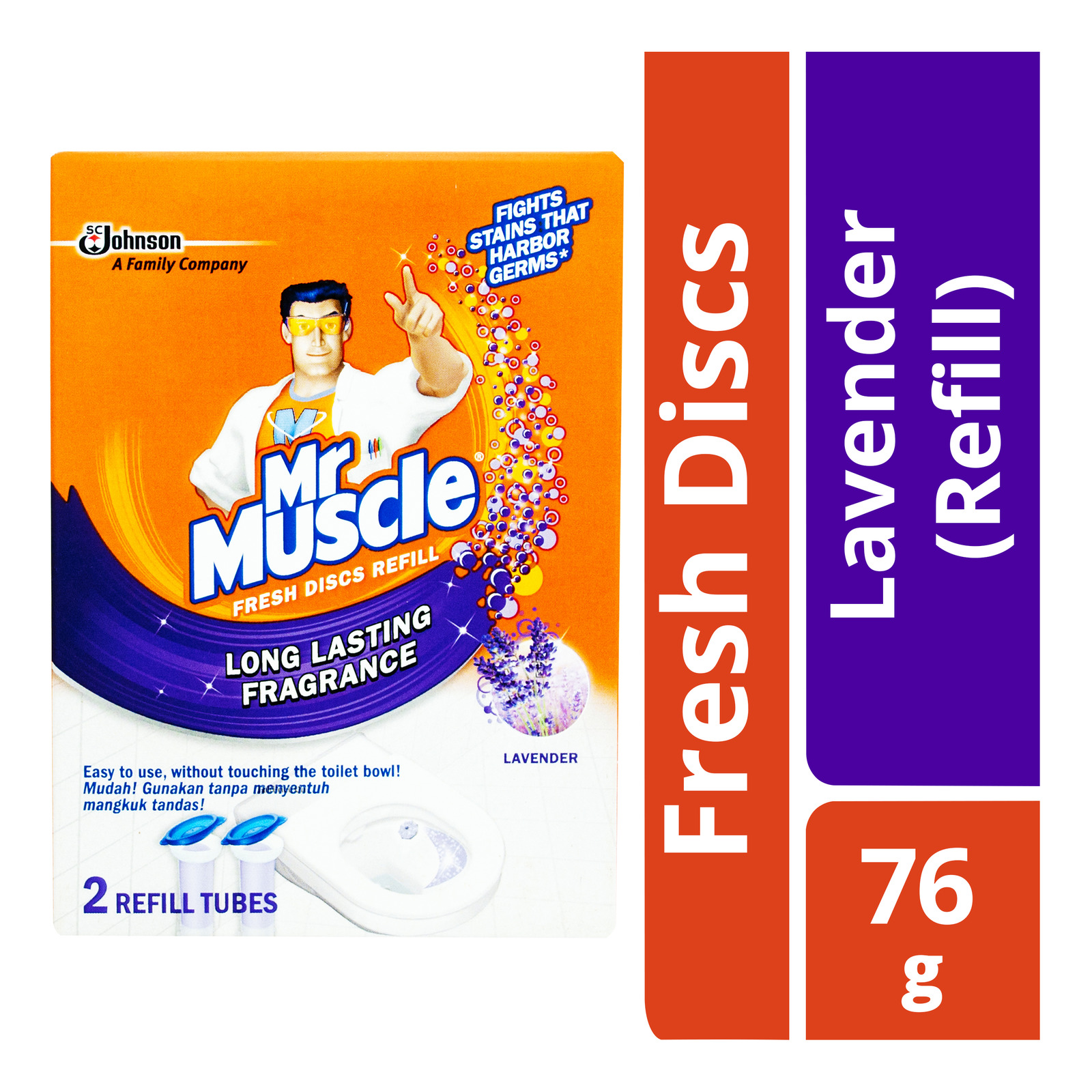 Mr Muscle Fresh Discs Refill - Lavender