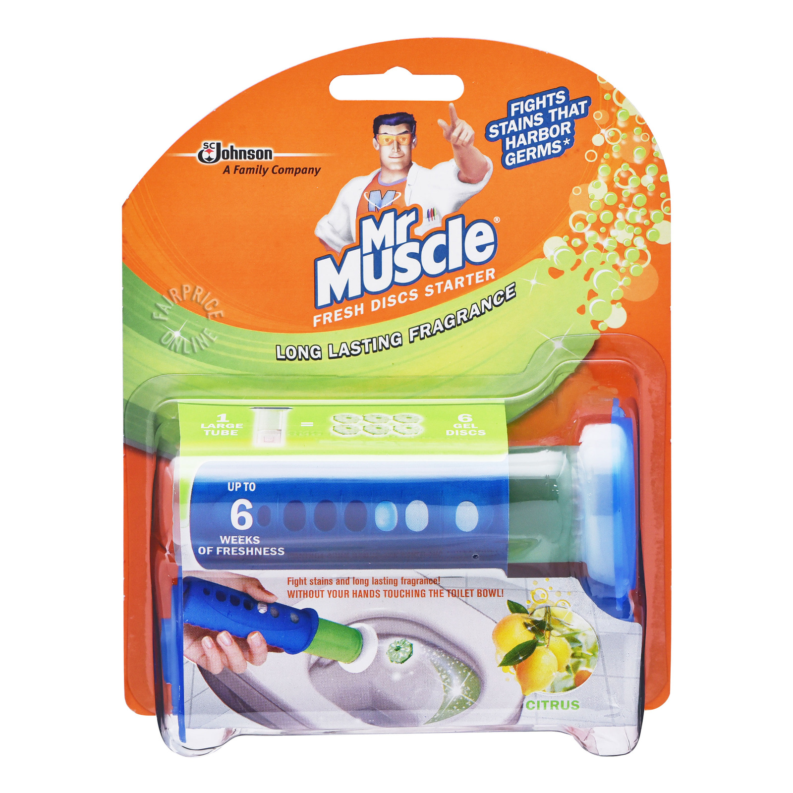 Mr Muscle Fresh Discs Starter Kit - Citrus