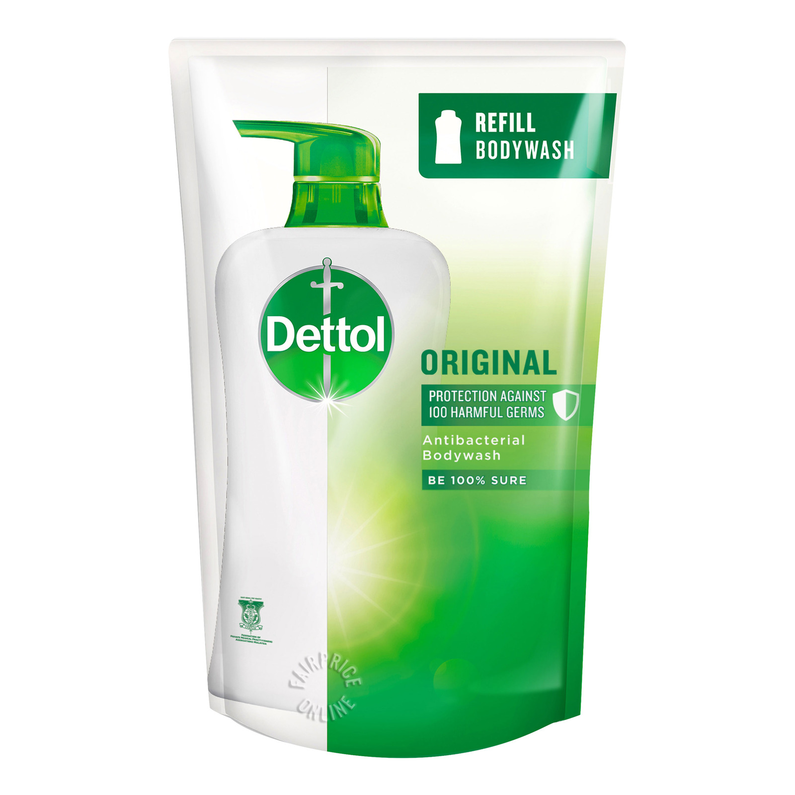 Dettol Anti-Bacterial pH-Balanced Body Wash Refill - Original