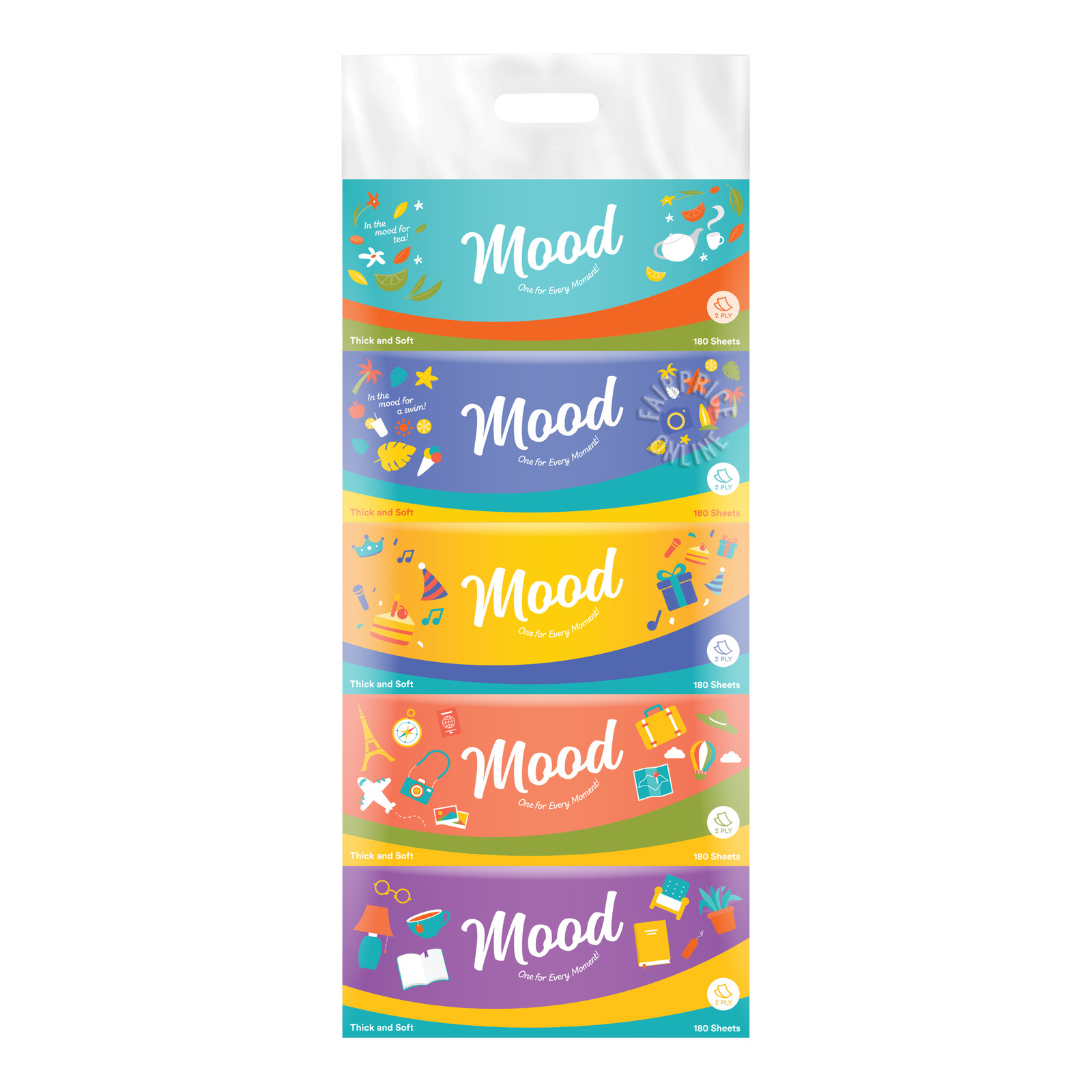 Mood Facial Tissue Boxes