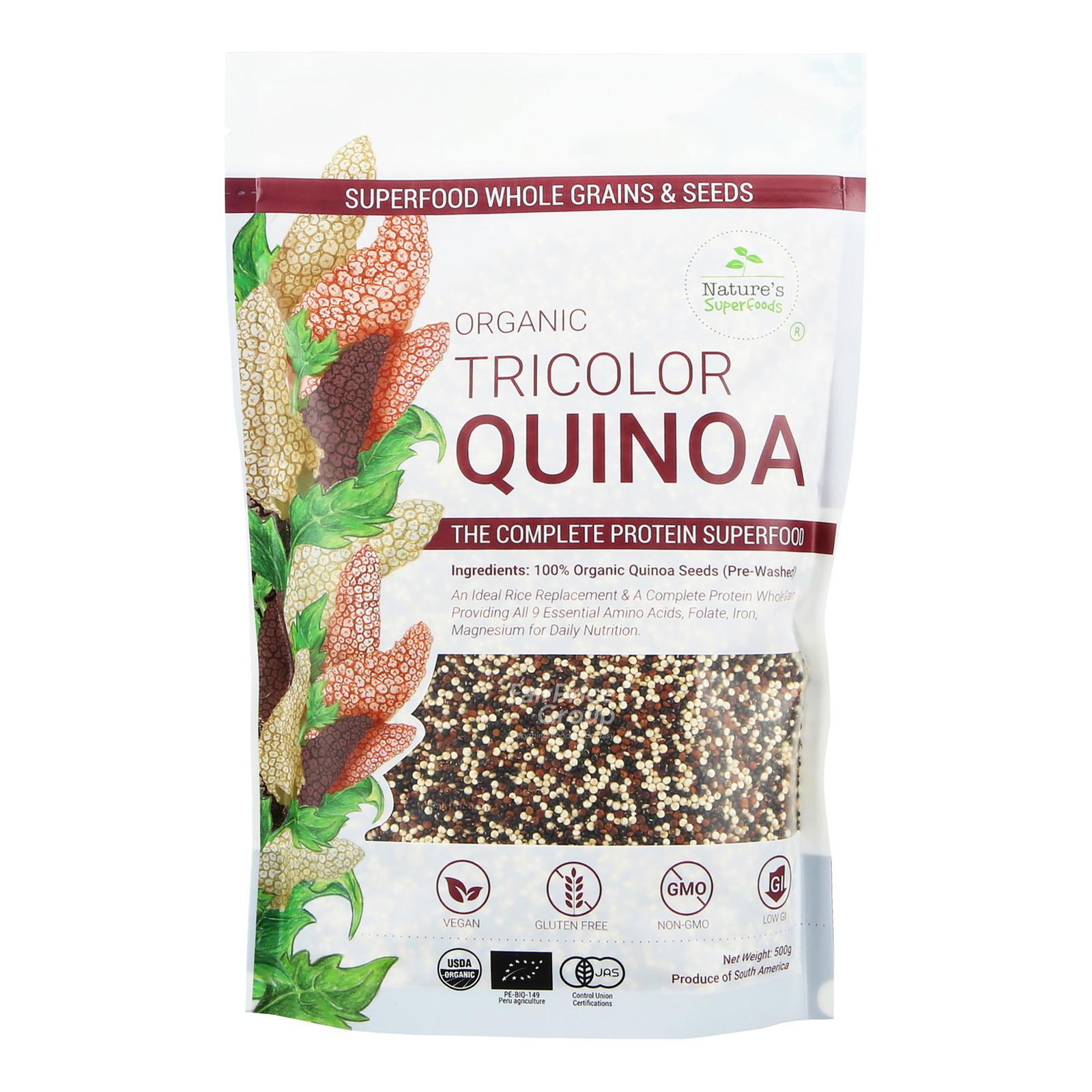 Nature's Superfoods Organic Tricolor Quinoa Seeds