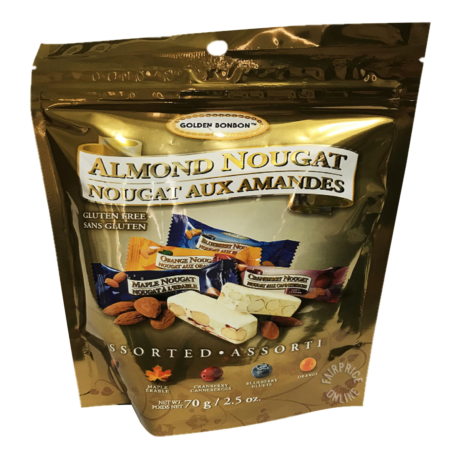 Golden Bon Bon Almond Nougat - Assorted