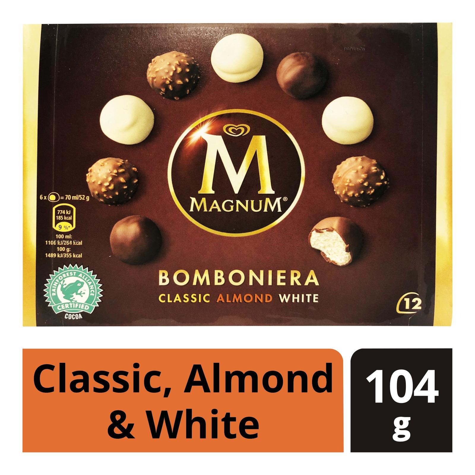 Magnum Bomboniera Ice Cream - Classic,Almond&White