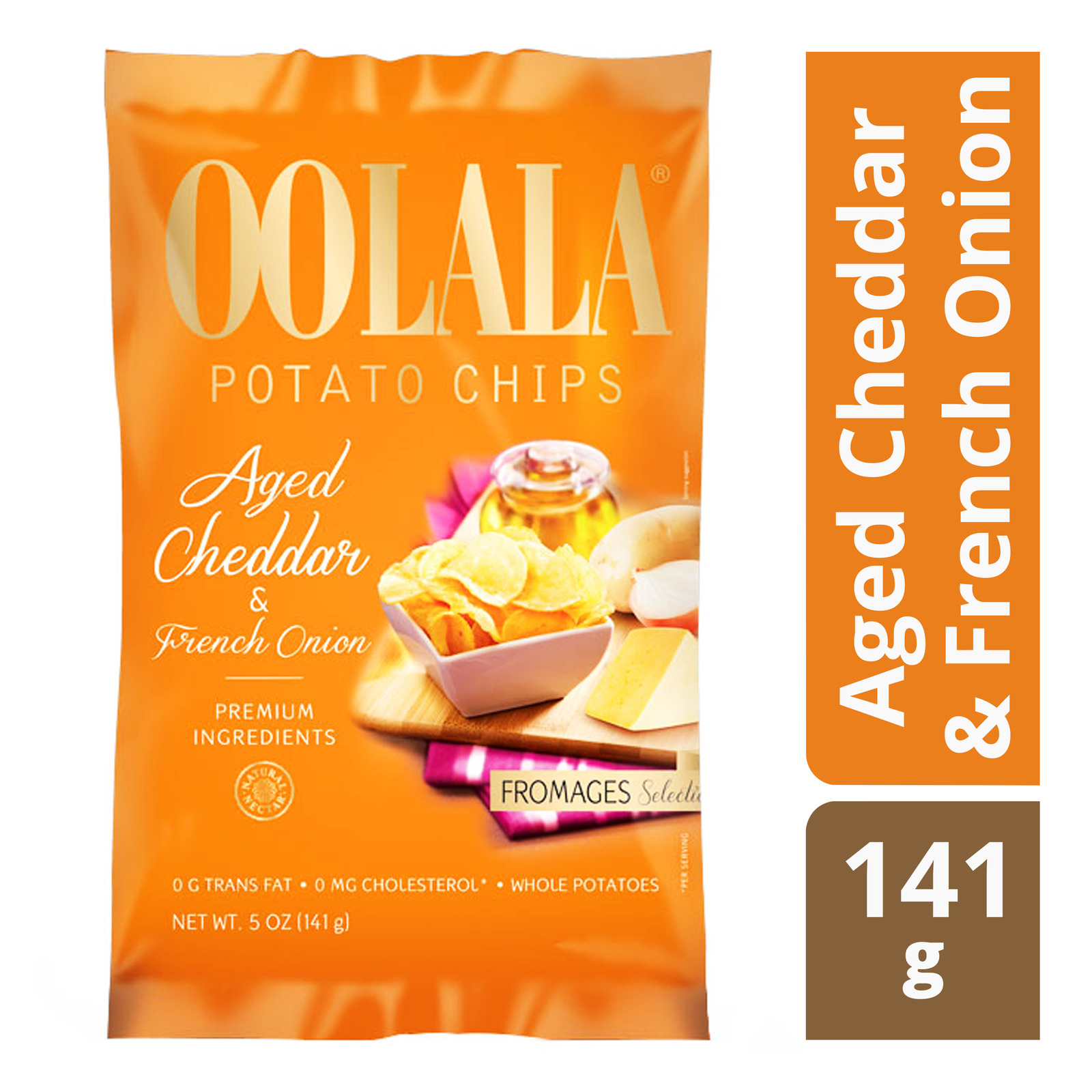 Oolala Potato Chips - Aged Cheddar & French Onion