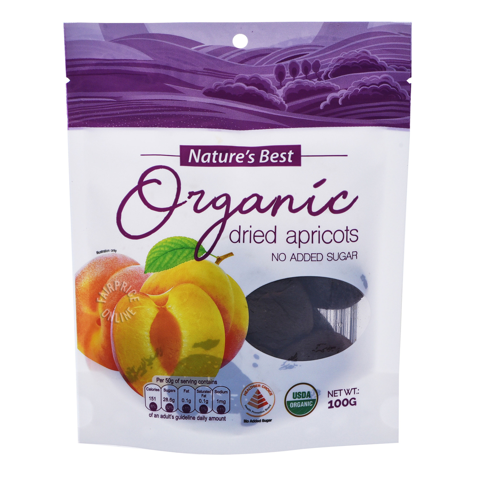 Nature's Best Organic Dried Apricots (No Added Sugar)