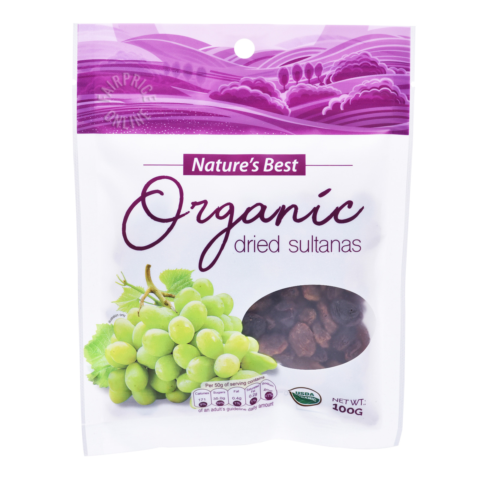 Nature's Best Organic Dried Fruits - Sultanas