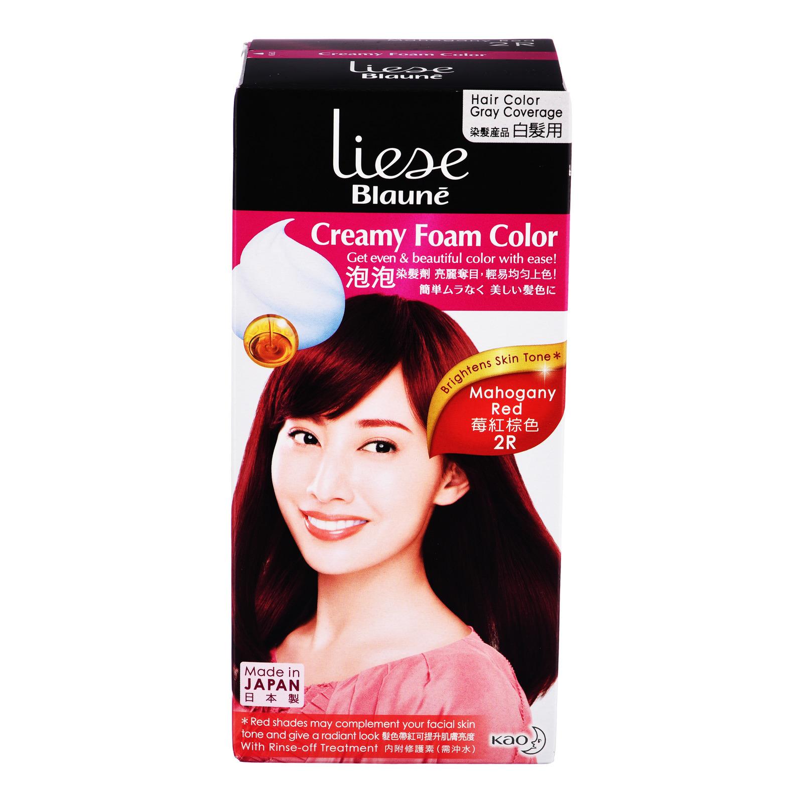 Liese Blaune Creamy Foam Hair Colour - 2R Mahogany Red