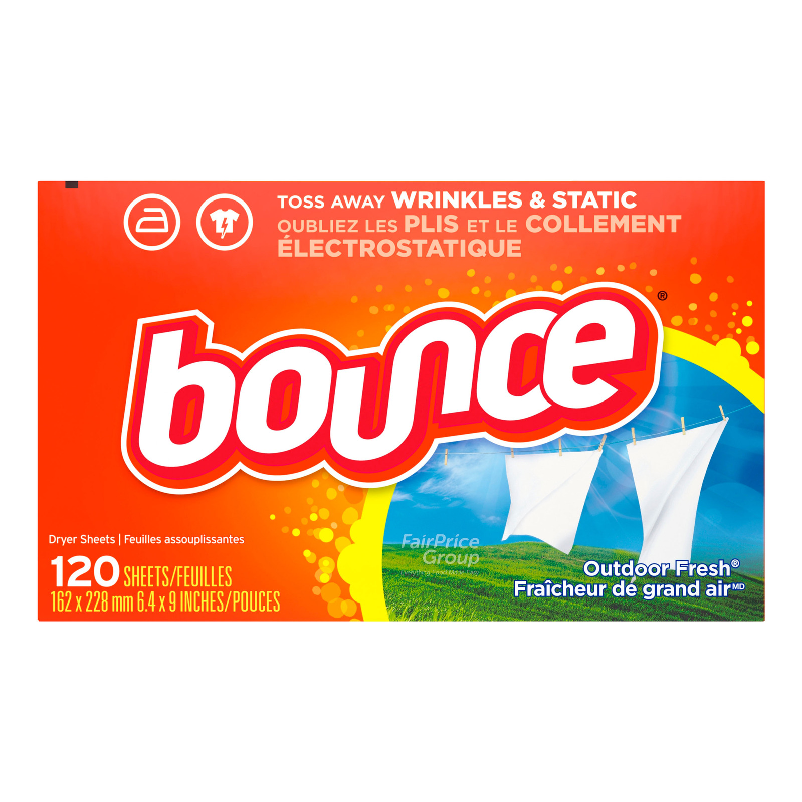 Bounce Dryer Sheets - Outdoor Fresh