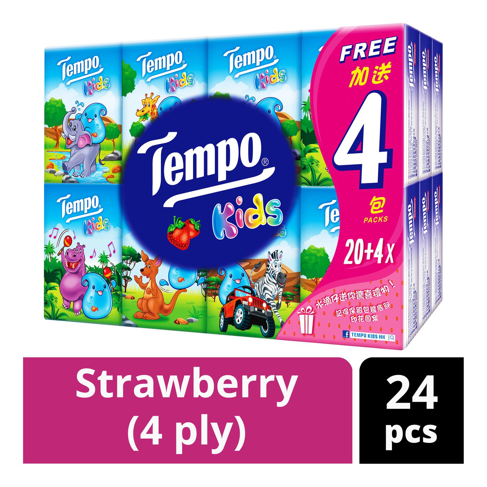 Tempo Petit Kids Handkerchief - Strawberry (4ply)