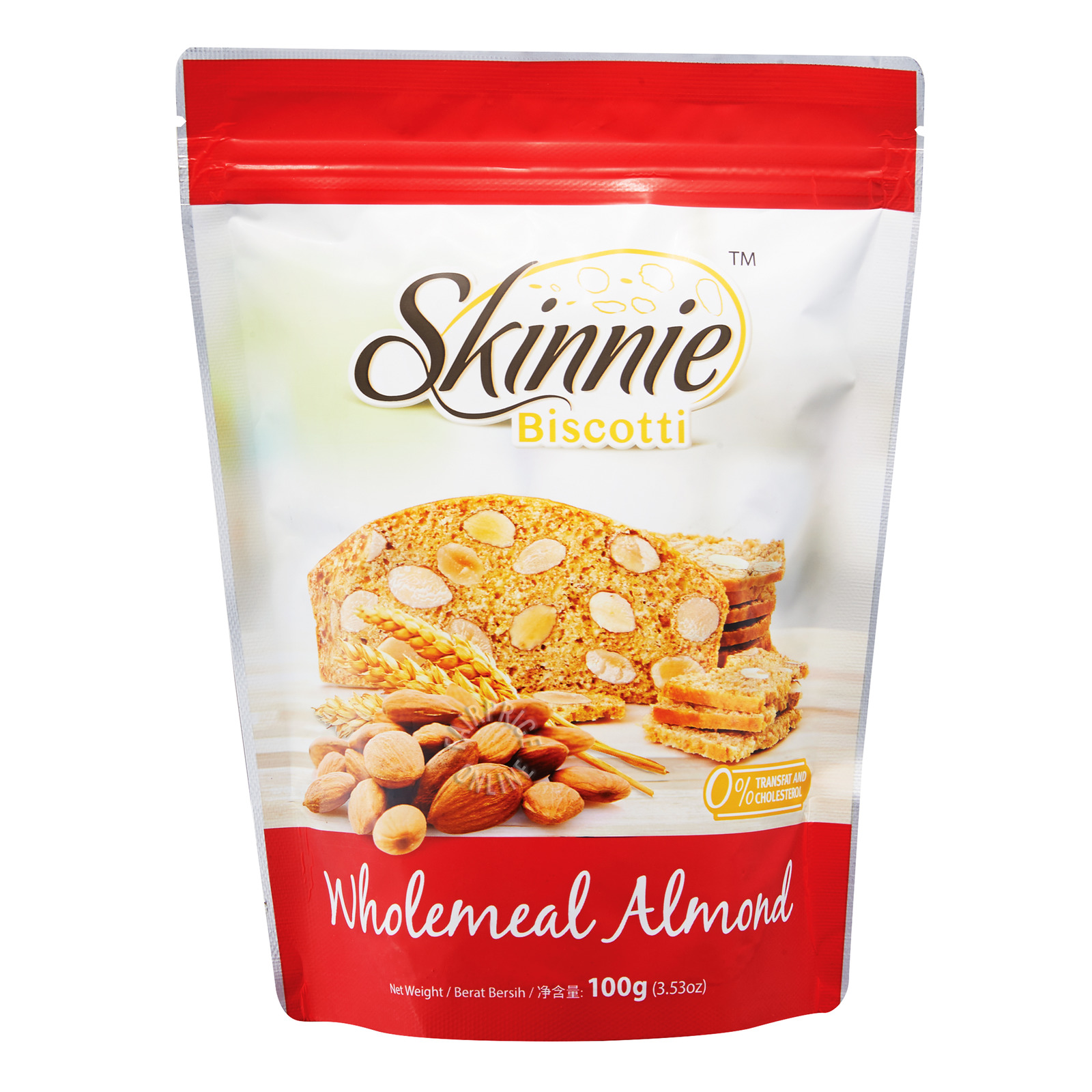 Skinnie Biscotti - Wholemeal Almond