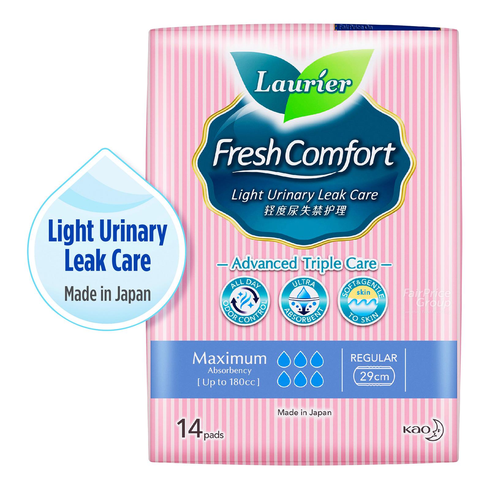 Laurier Fresh Comfort Light Urinary Leak Pads-180cc(29cm)
