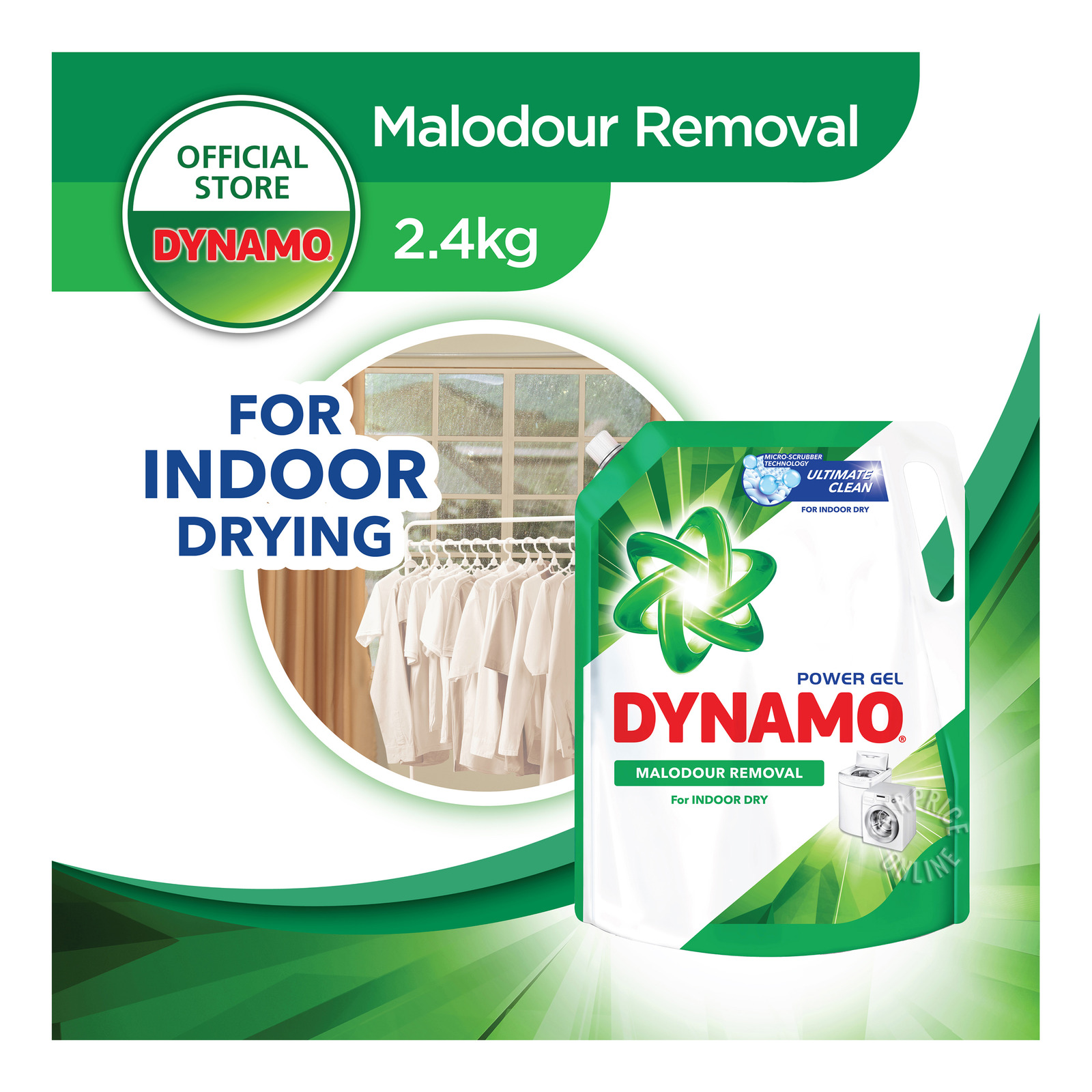Dynamo Power Gel Laundry Detergent Refill - Indoor Dry