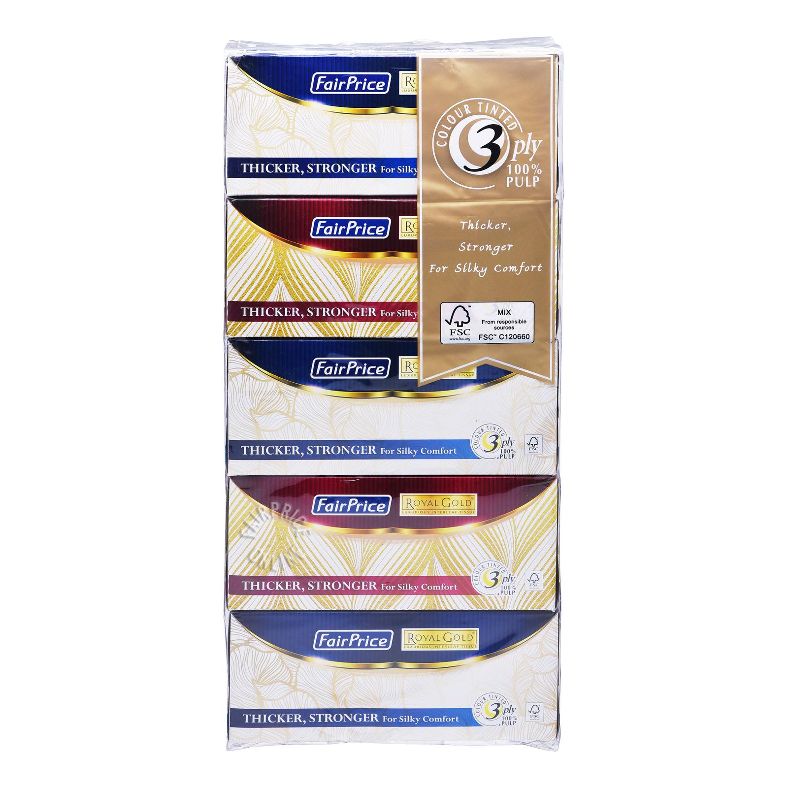 FairPrice Royal Gold Facial Tissue - 3ply