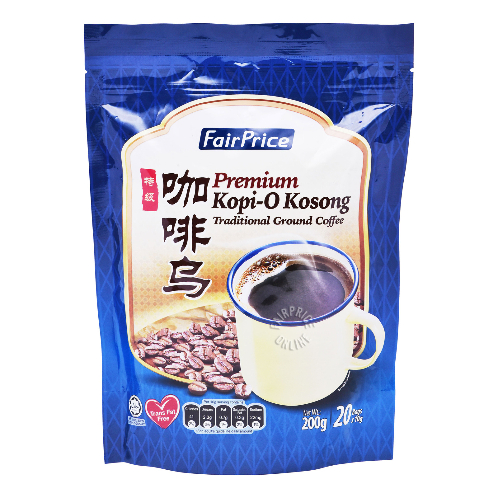 FairPrice Instant Traditional Black Coffee - Kopi-O Kosong