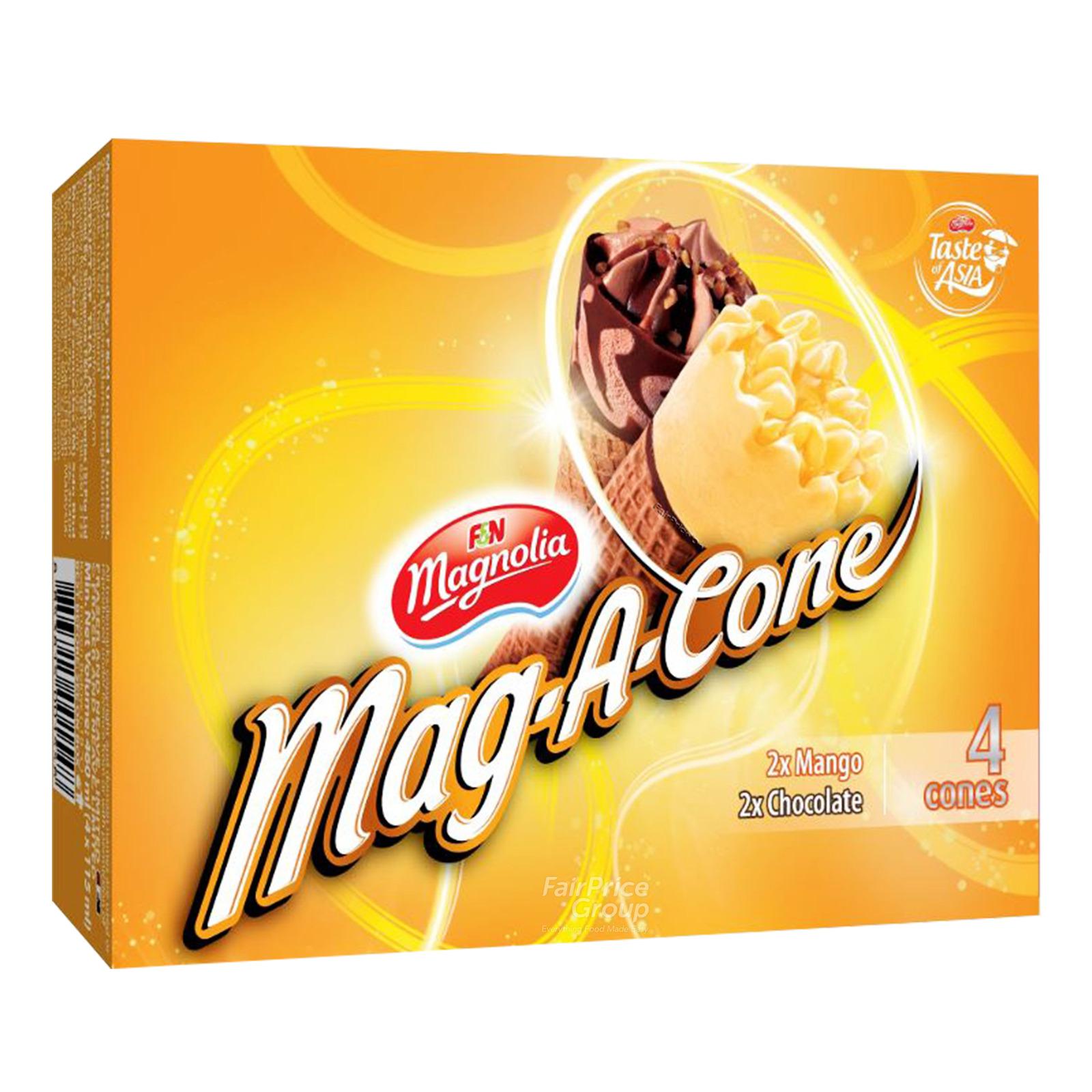F&N Magnolia Mag-A-Cone Ice Cream - Mango & Chocolate