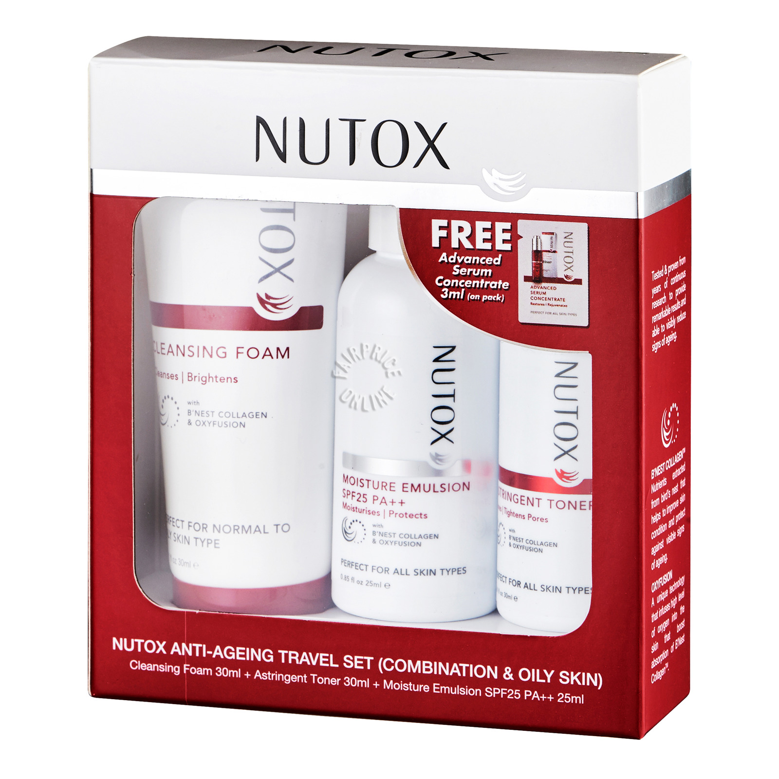Nutox Anti-Ageing Travel Set - Combination & Oily Skin