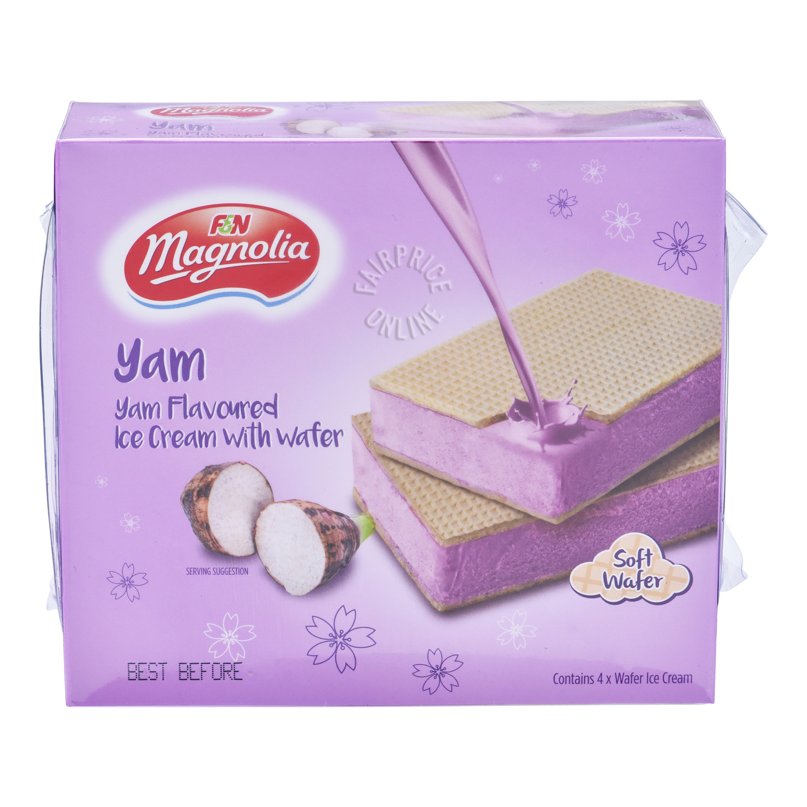 F&N Magnolia Ice Cream with Wafer - Yam