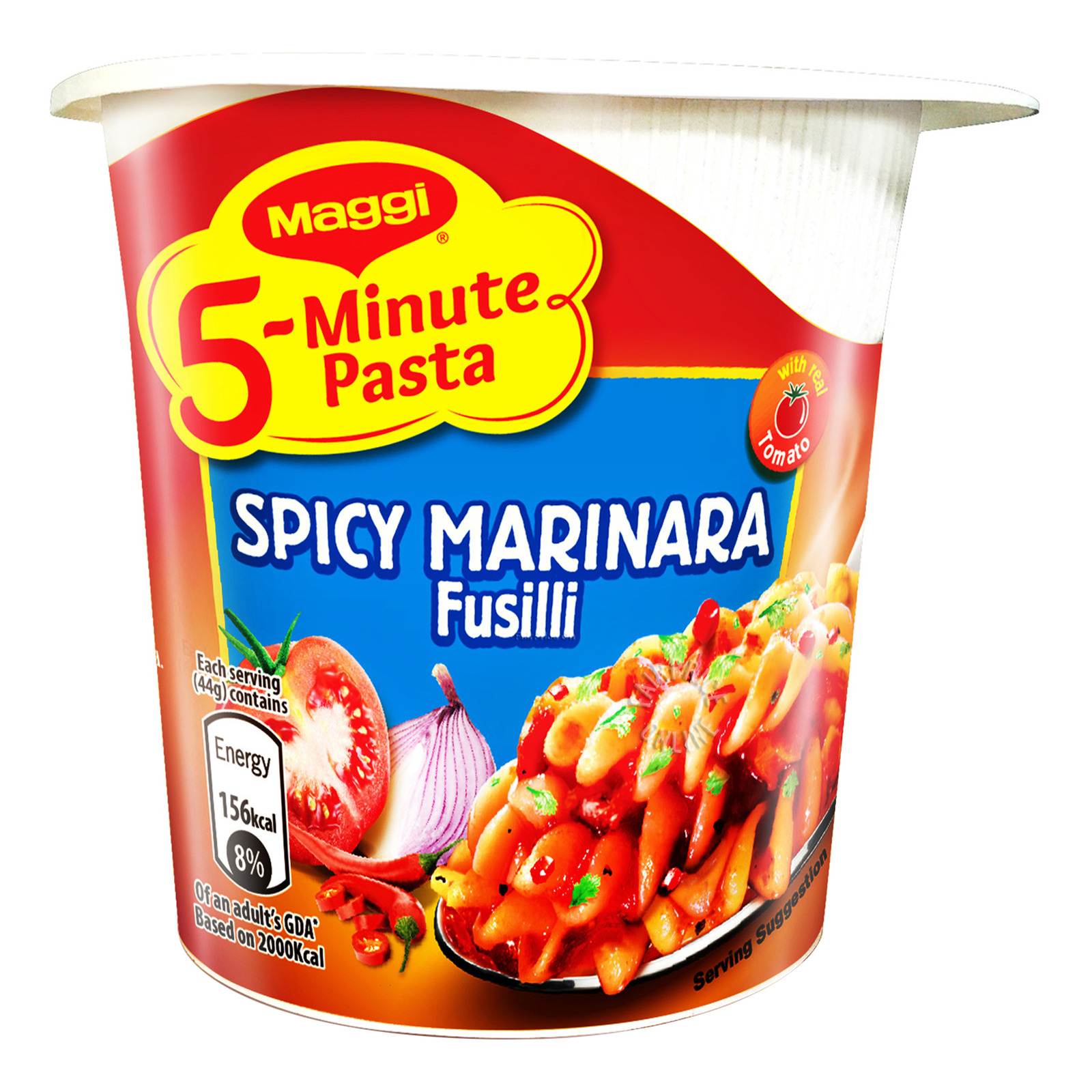 Maggi 5-Minute Instant Cup Pasta - Spicy Marinara Fusilli