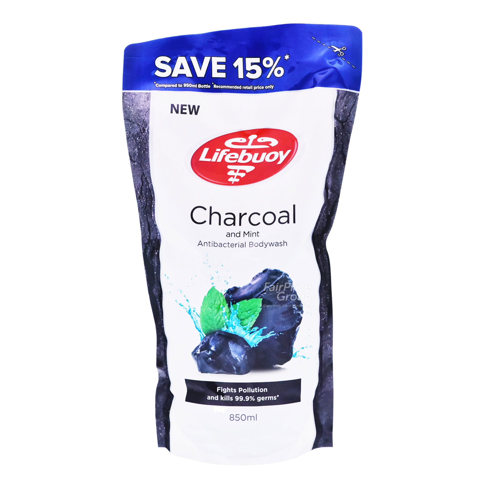 Lifebuoy Antibacterial Body Wash Refill - Charcoal & Mint