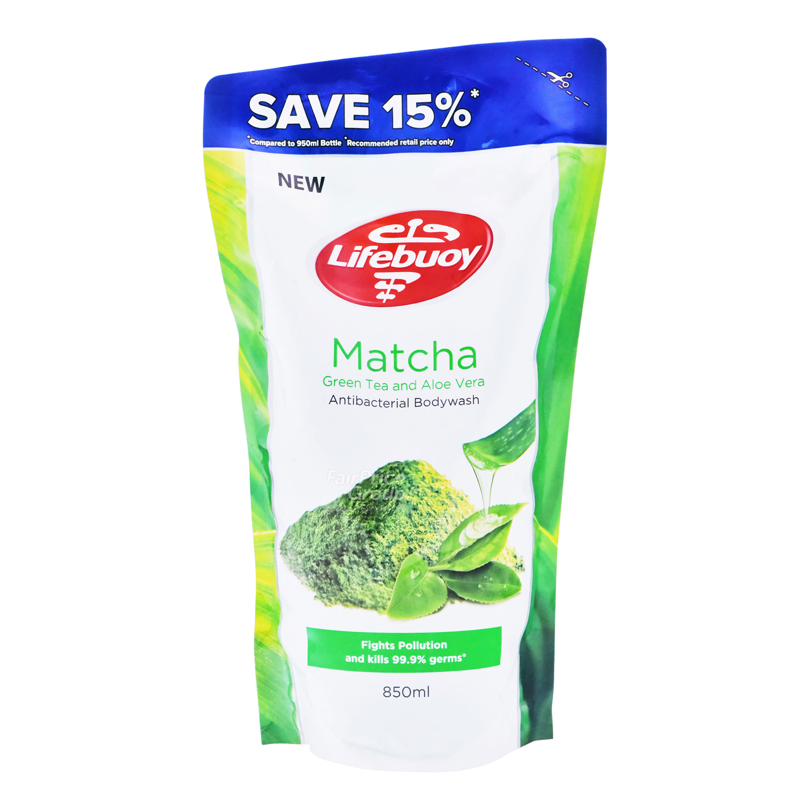Lifebuoy Antibacterial Body Wash Refill - Matcha