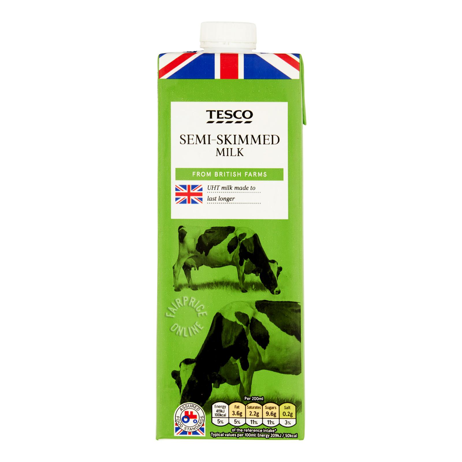 Tesco UHT Milk - Semi-Skimmed