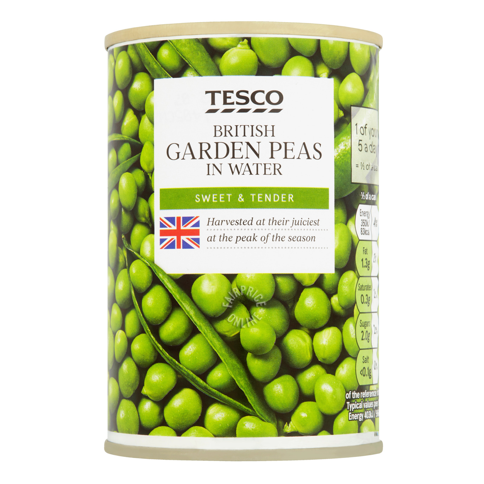 Tesco Can British Garden Peas In Water
