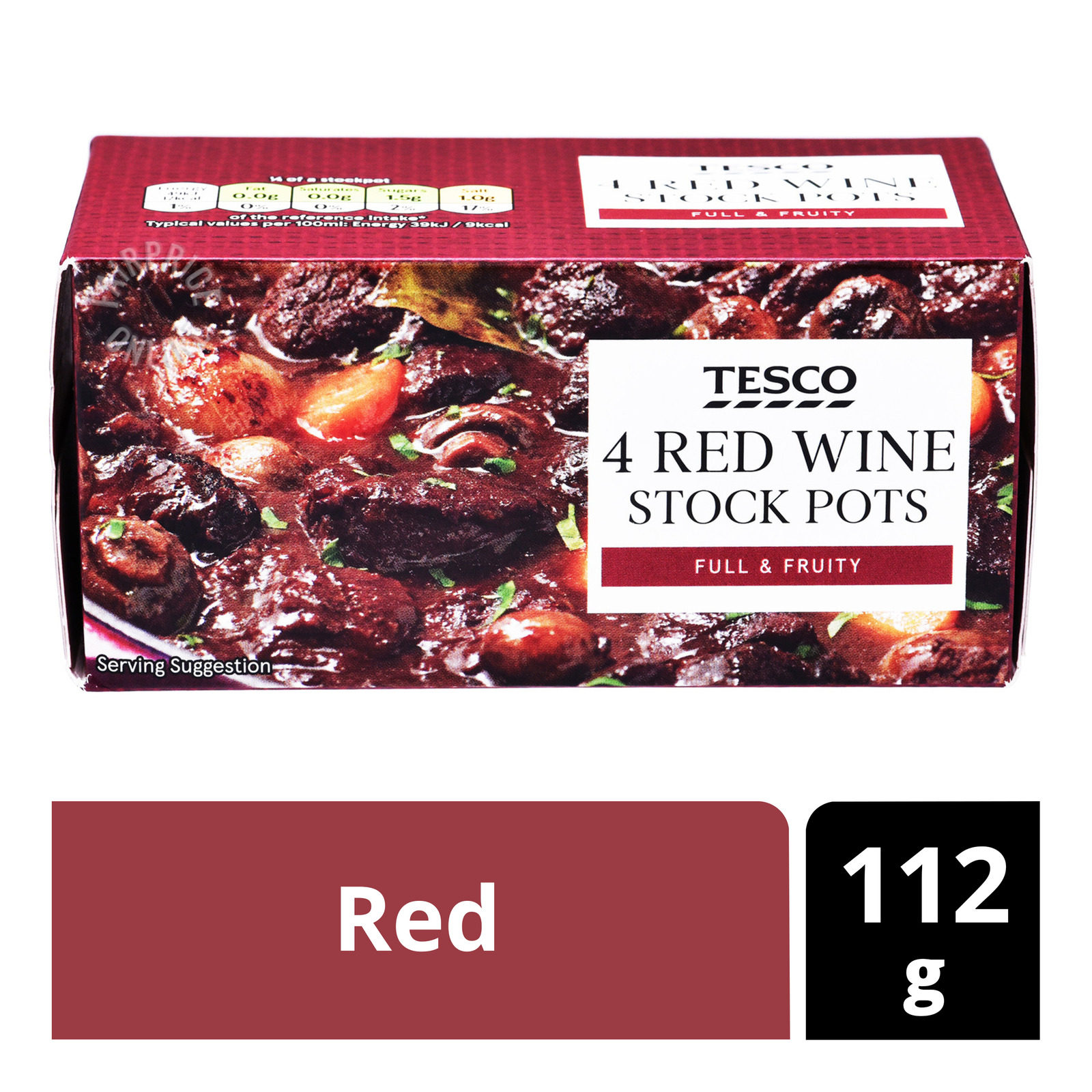 Tesco 4 Concentrated Wine Stock - Red