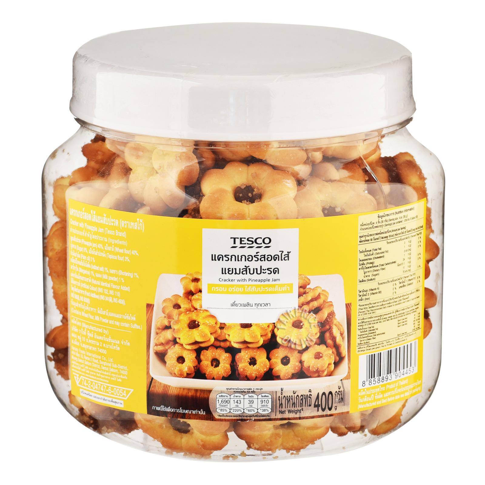 Tesco Cracker with Pineapple Jam