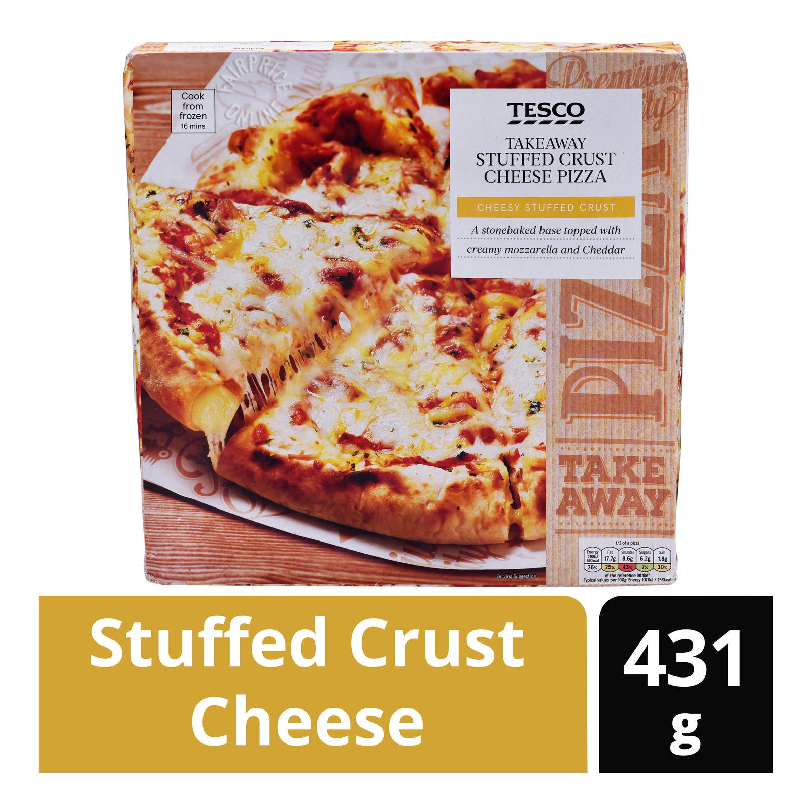 Tesco Takeaway Stuffed Crust Cheese Pizza