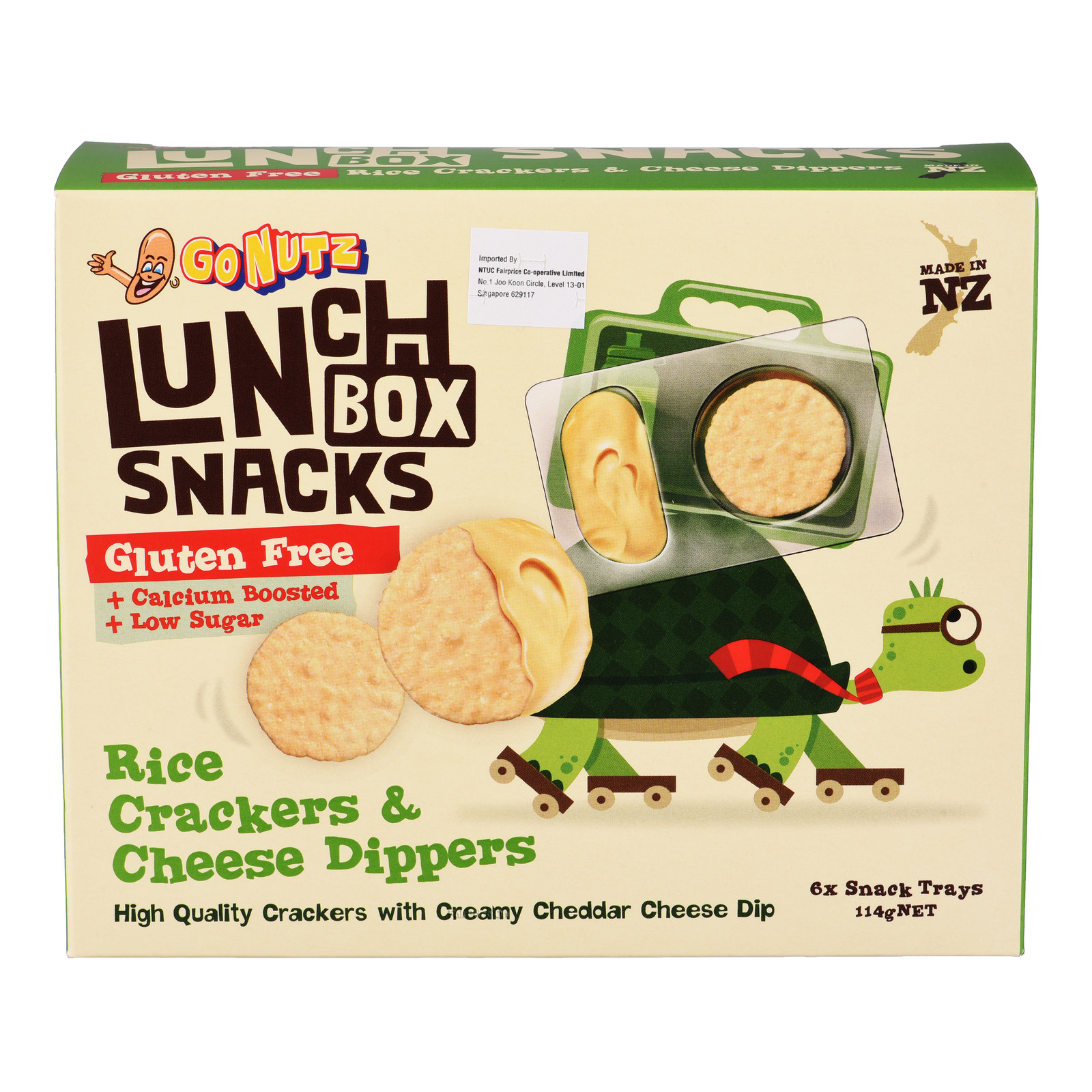 GoNutz Lunch Box Snacks with Cheese Dipper - Rice Crackers