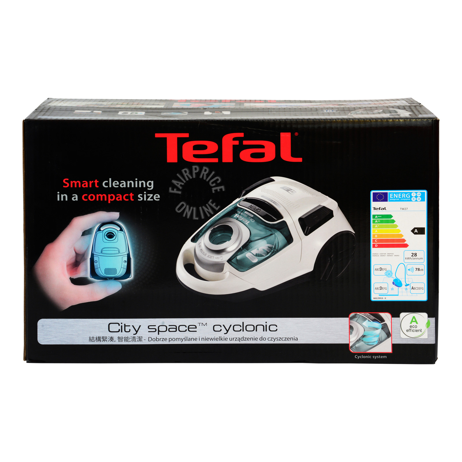 Tefal City Space Cyclonic Vacuum Cleaner (TW2757)