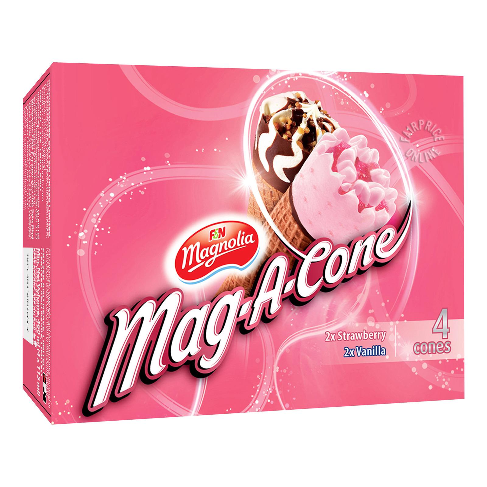 F&N Magnolia Mag-A-Cone Ice Cream - Strawberry & Vanilla