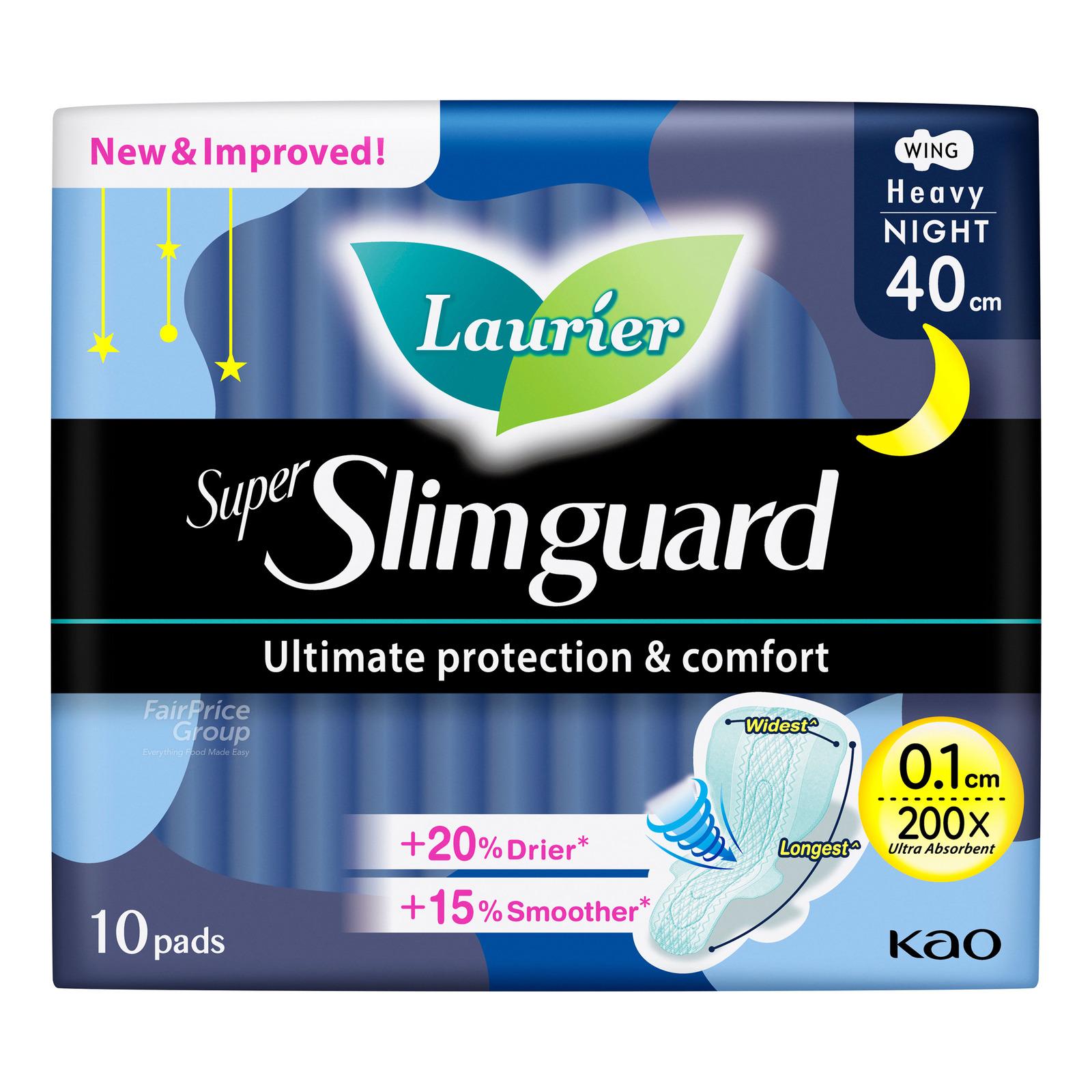 Laurier Super Slimguard Night Pads - Heavy (40cm)