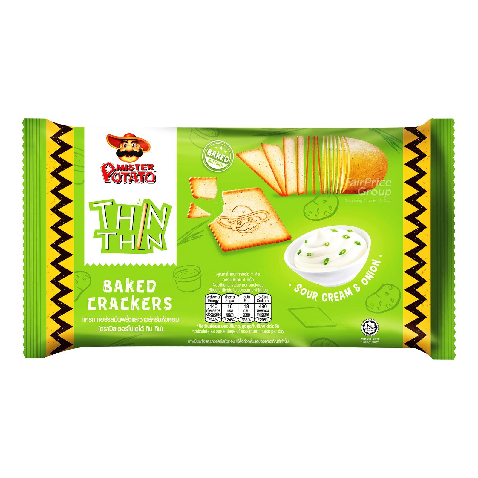 Mister Potato Thin Thin Baked Crackers - Sour Cream & Onion