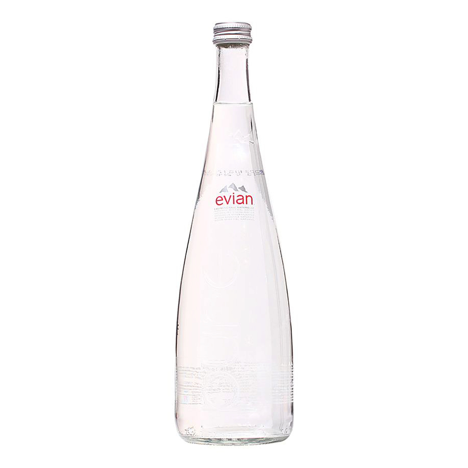 Evian Natural Mineral Glass Bottle Water