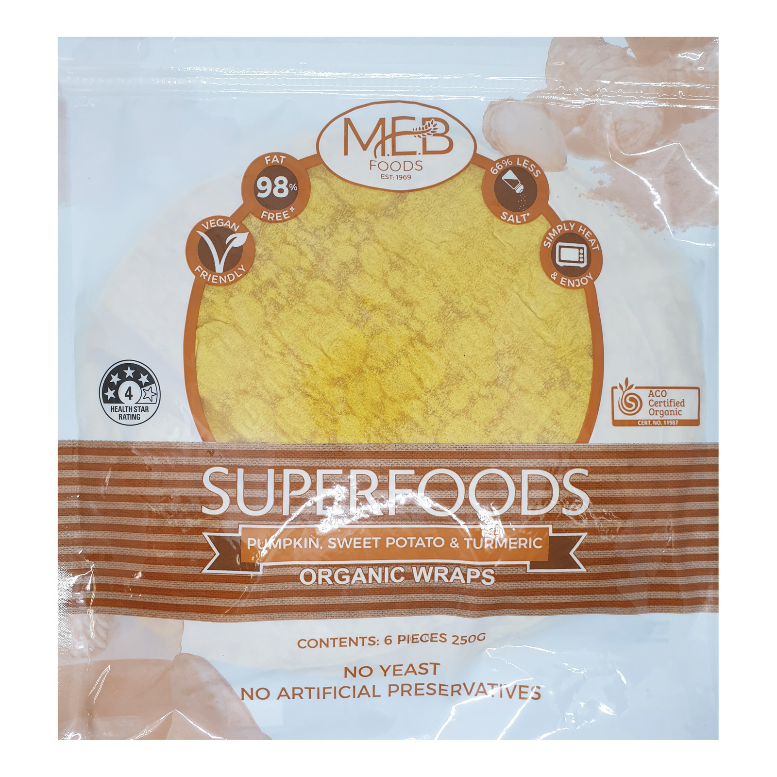 MEB Organic Wrap - Pumpkin, Sweet Potato & Turmeric
