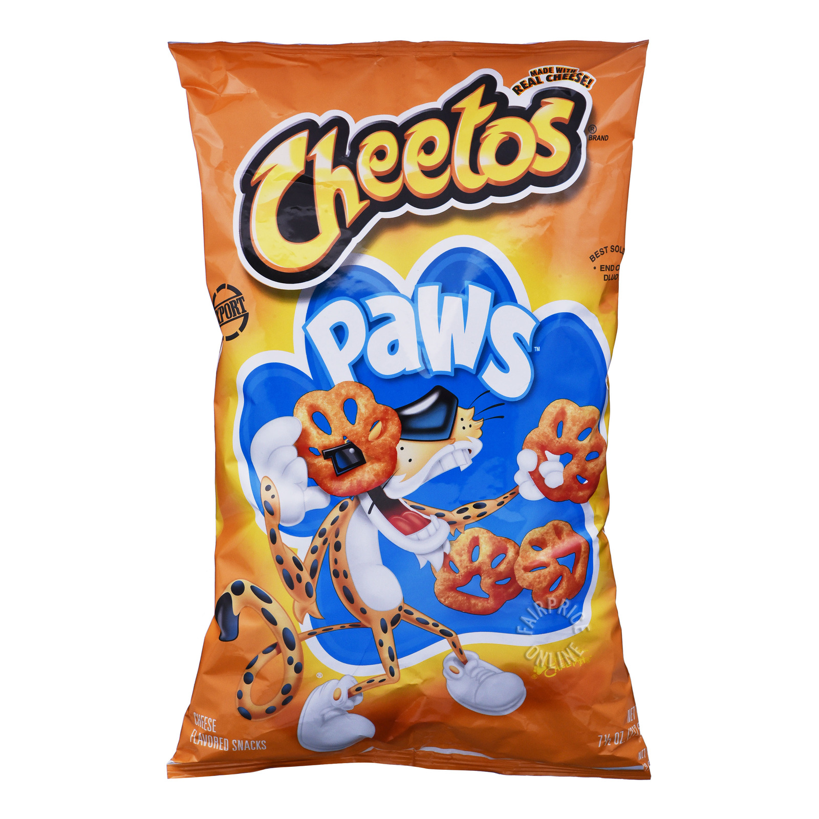 Cheetos Cheese Flavoured Snacks - Paws