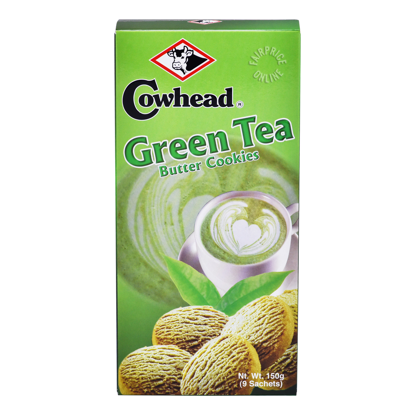 Cowhead Butter Cookies - Green Tea