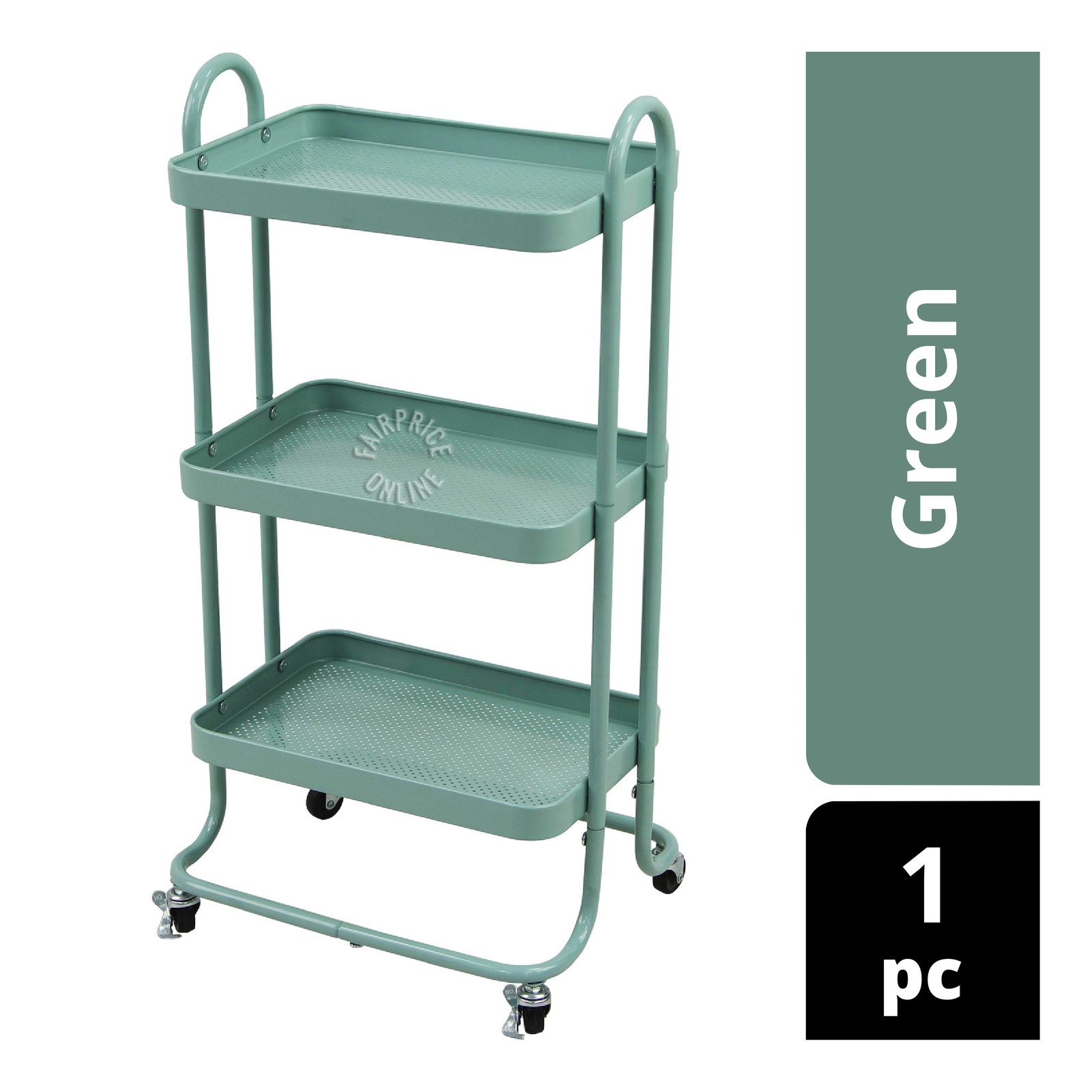 Homeproud Kitchen Trolley - Green