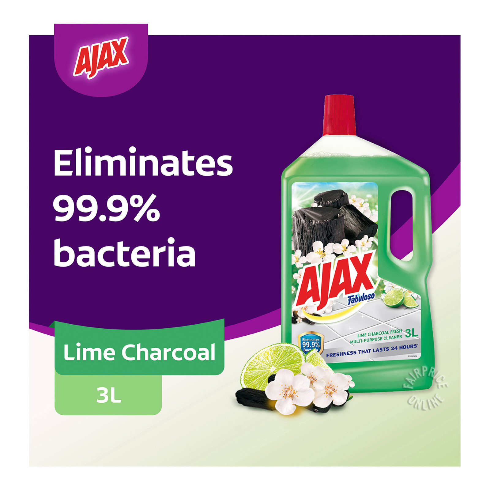 Ajax Fabuloso Multi-Purpose Floor Cleaner - Lime Charcoal Fresh