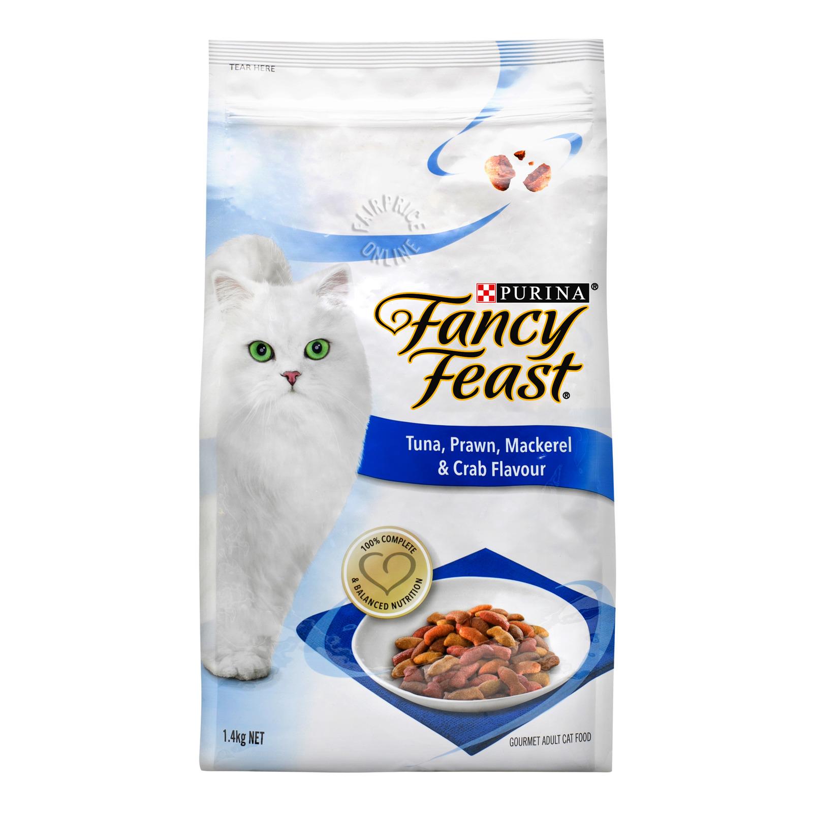 Fancy Feast Dry Cat Food - Tuna, Prawn, Mackeral & Crab