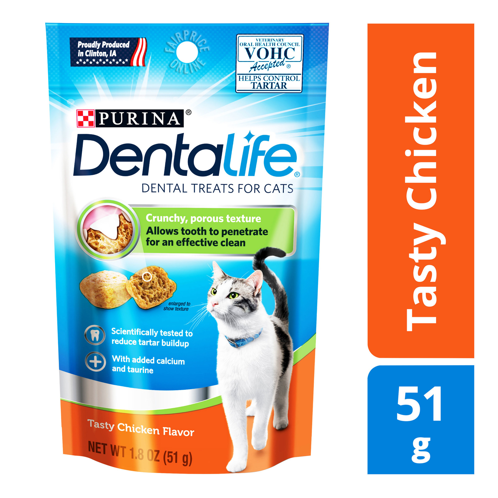 Purina Dentalife Dental Cat Treats - Tasty Chicken